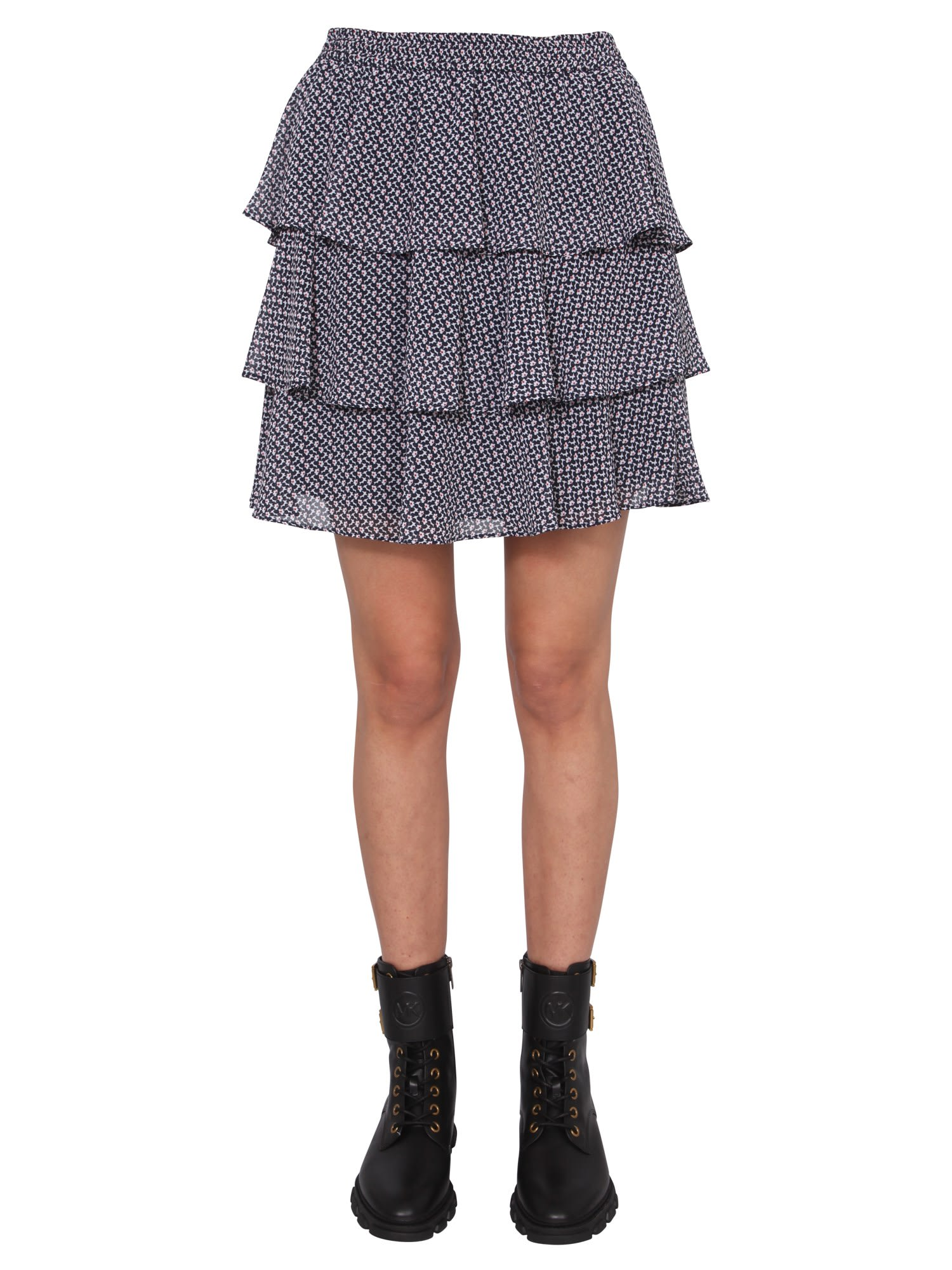 Michael Michael Kors MINI SKIRT WITH FLOUNCES