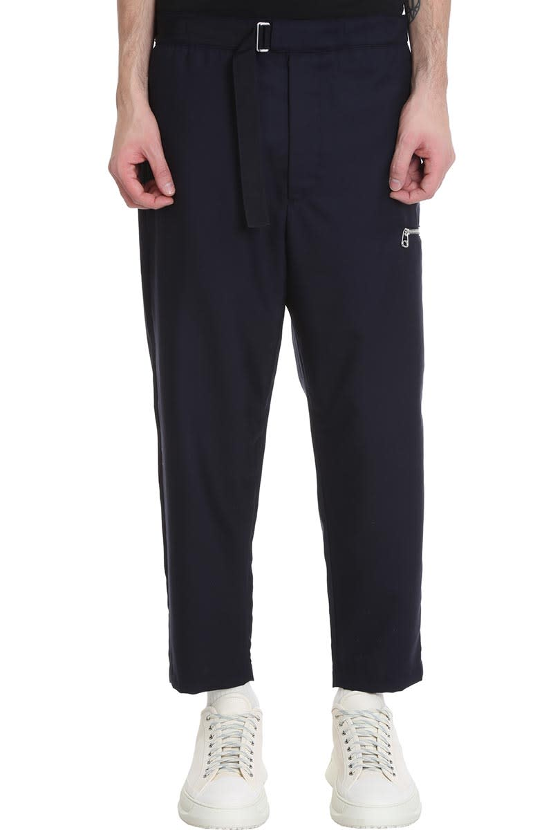 Oamc Pants PANTS IN BLUE WOOL