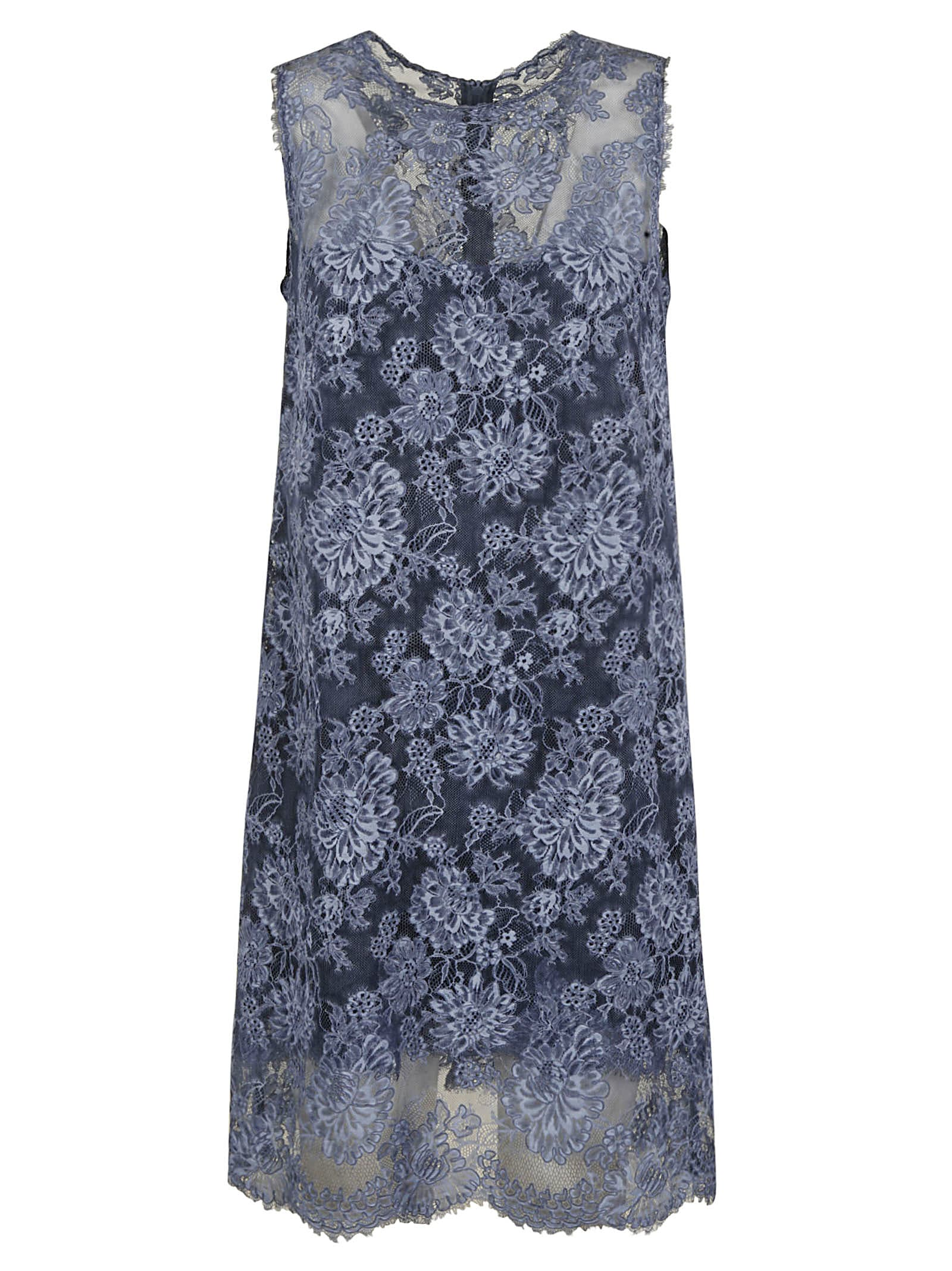 Buy Ermanno Scervino Floral Sleeveless Dress online, shop Ermanno Scervino with free shipping