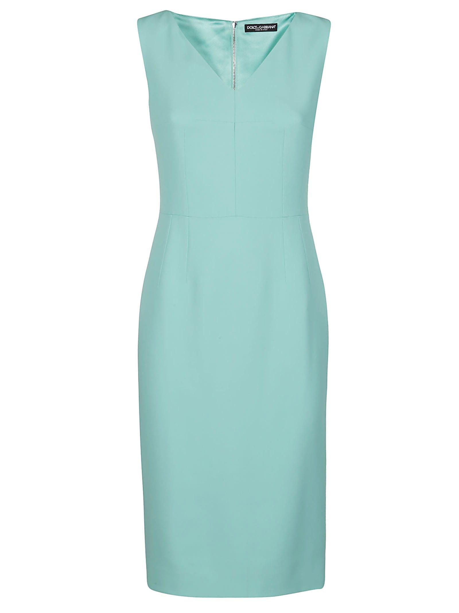 Buy Dolce & Gabbana Light Blue Viscose Blend Dress online, shop Dolce & Gabbana with free shipping