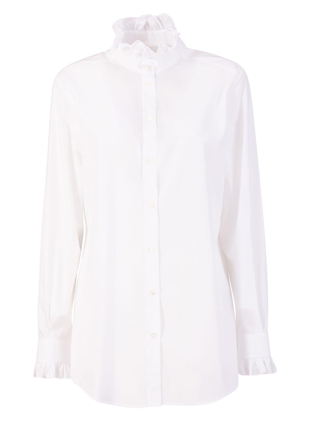 Dolce & Gabbana White Cotton Shirt