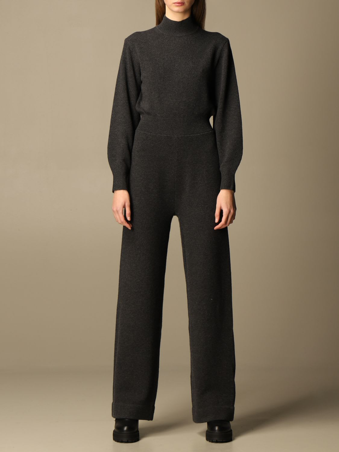 Theory Dress Theory Long Jumpsuit In Wool And Cashmere