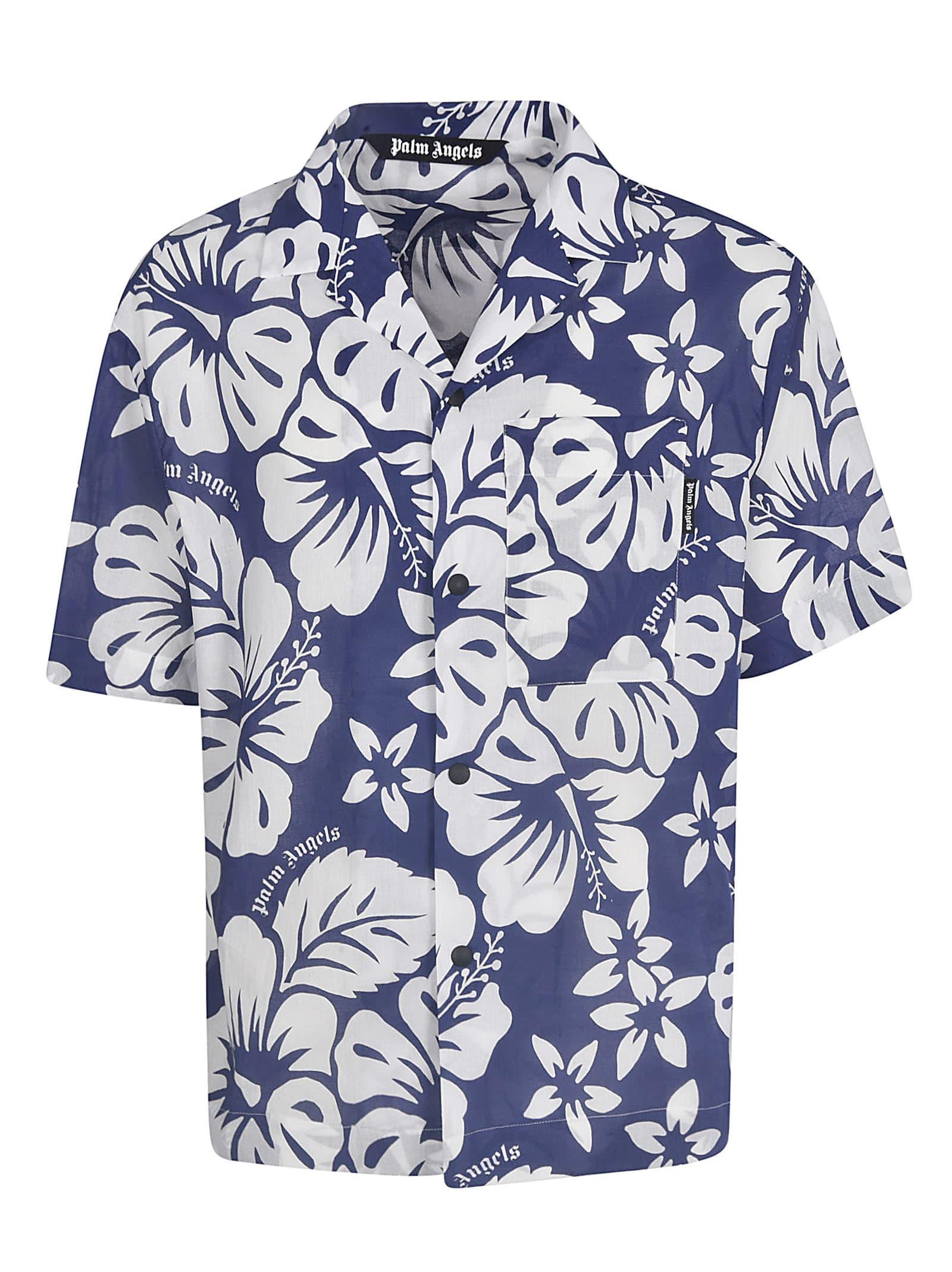 Palm Angels Hawaiian Bowling Shirt