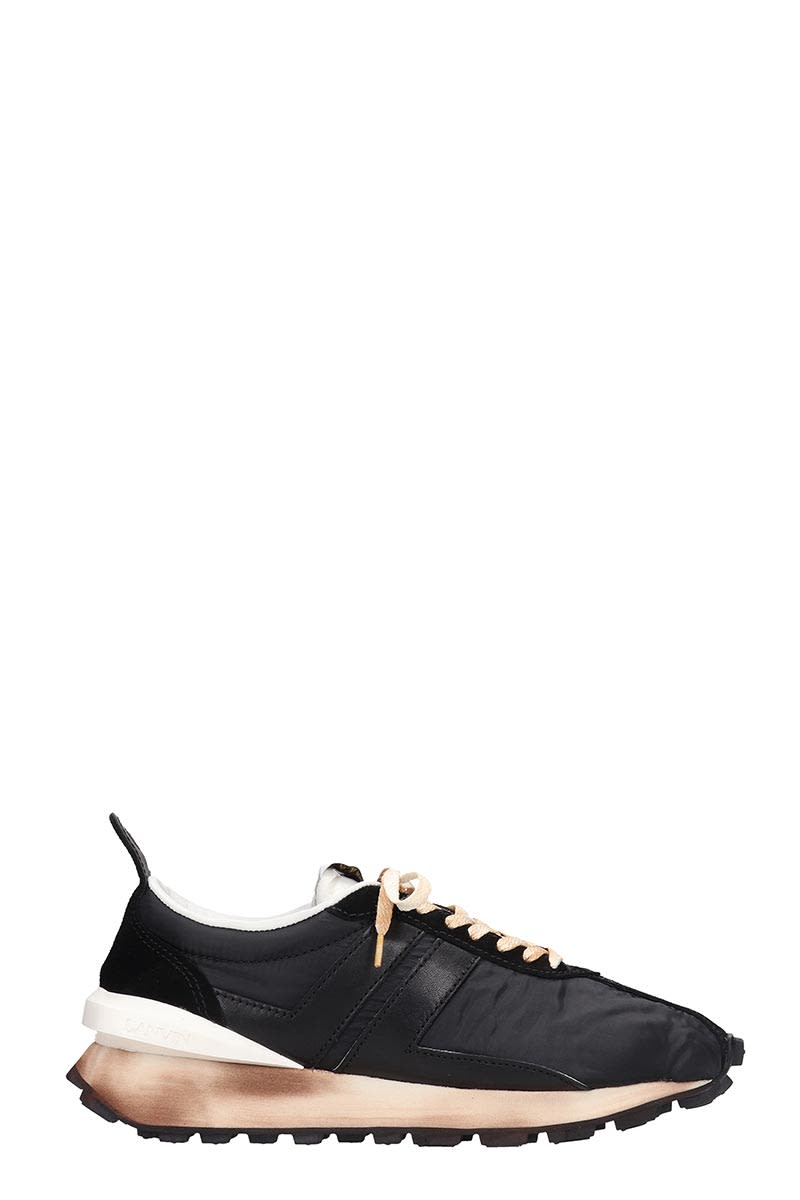 Lanvin Low tops RUNNING SNEAKERS IN BLACK NYLON