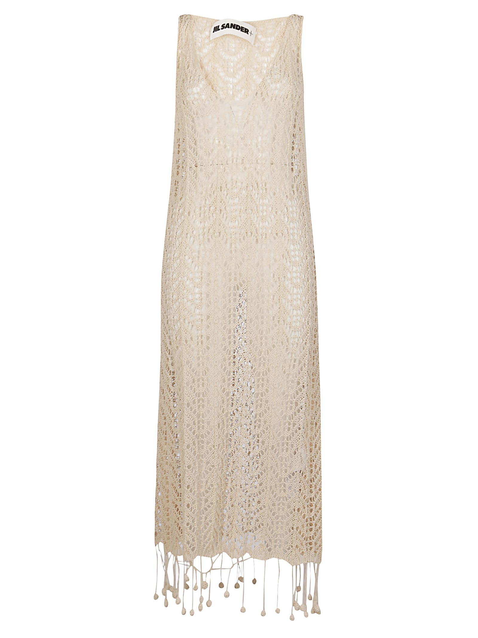 Buy Jil Sander Nude Cotton Dress online, shop Jil Sander with free shipping