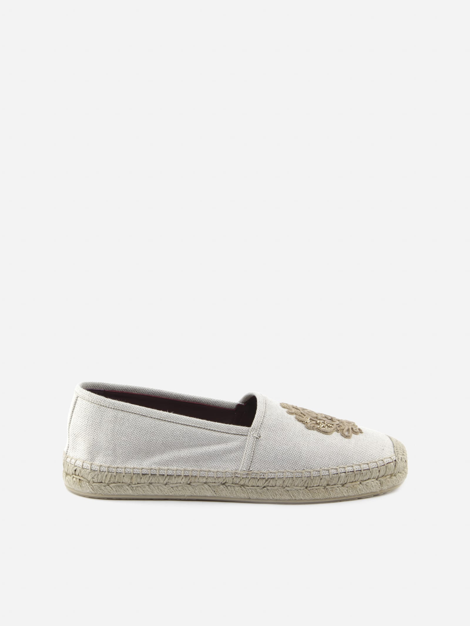 Dolce & Gabbana Canvases CANVAS ESPADRILLES WITH EMBROIDERED PATCH