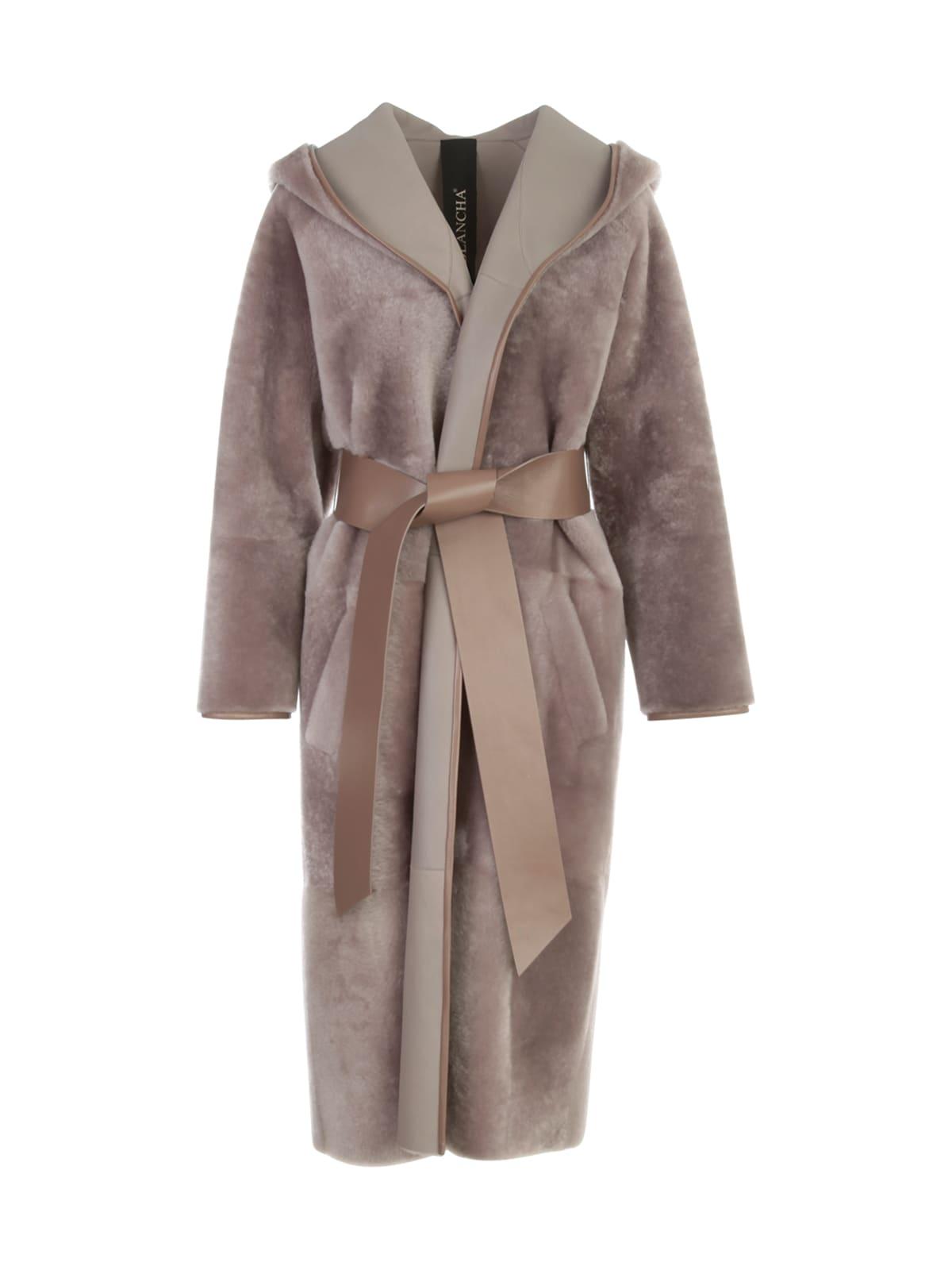 Merino Light Kimono Coat W/suede Belt