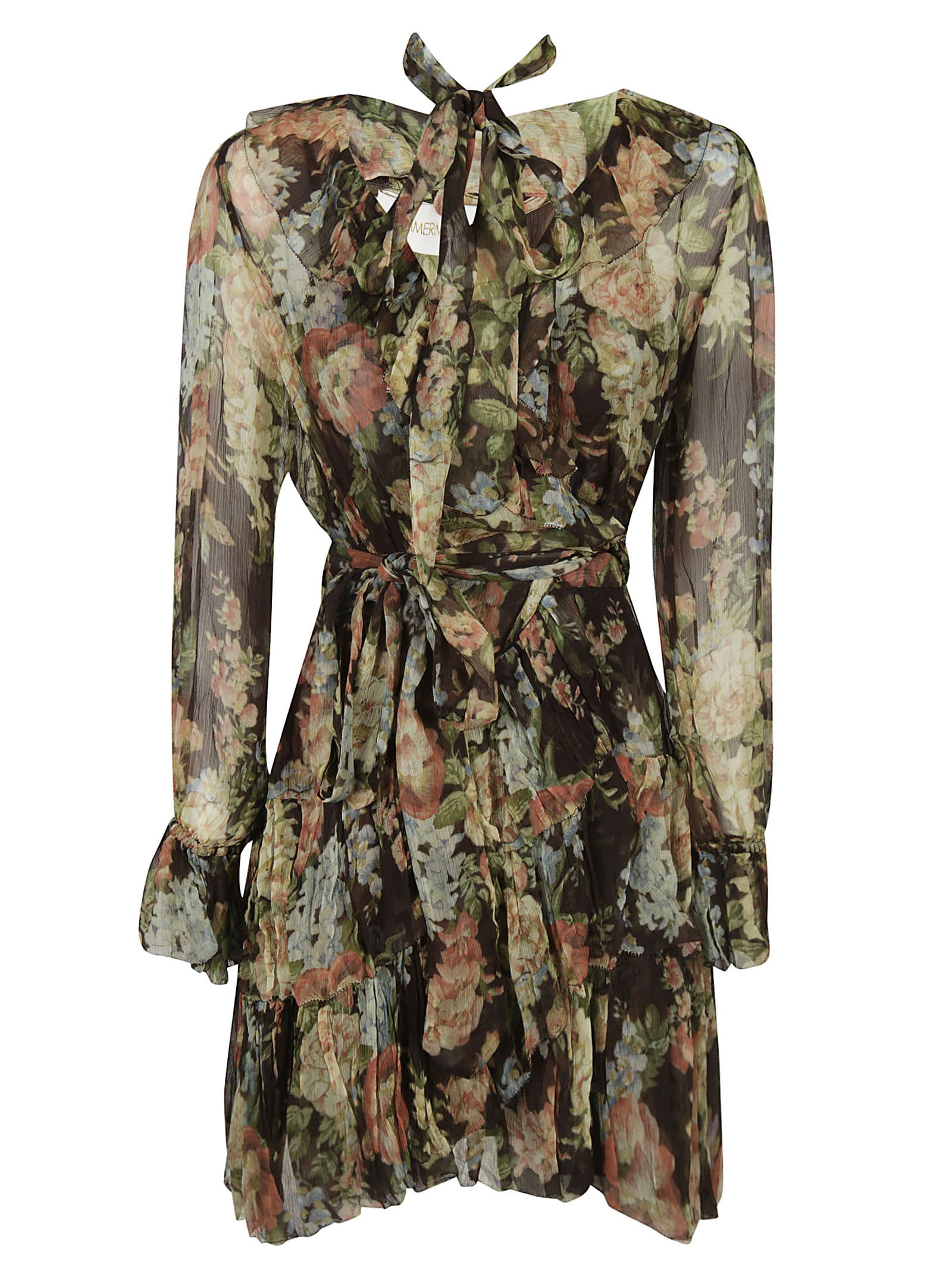 Zimmermann Ruffle Wrap Dress
