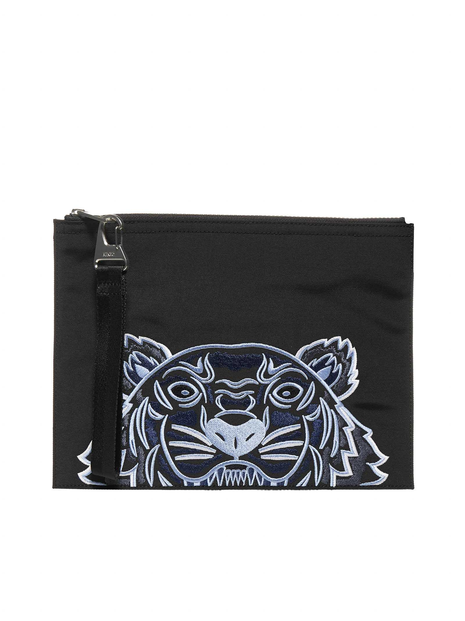 Kenzo Kampus Logo-tiger Canvas Clutch