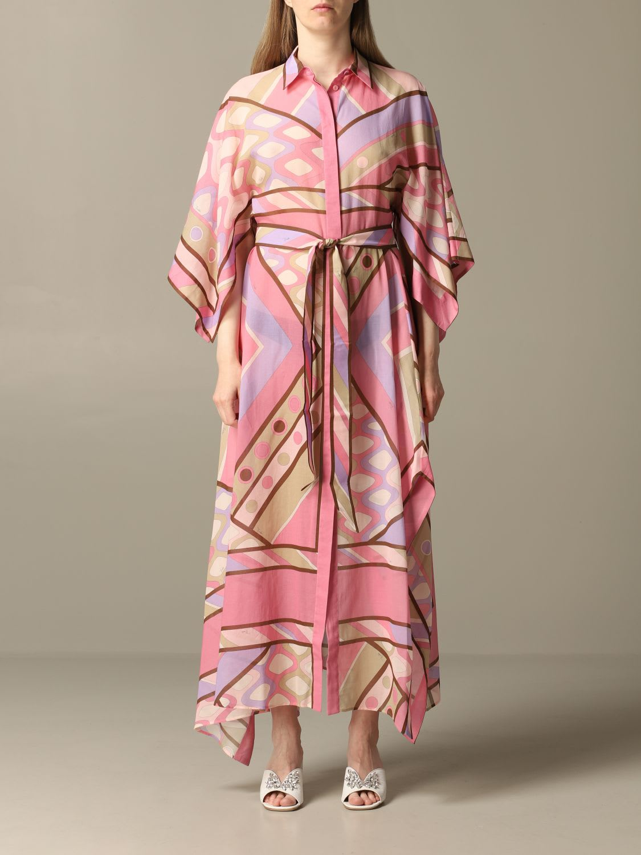 Buy Emilio Pucci Dress Long Shirt Dress Emilio Pucci With Vivara Print online, shop Emilio Pucci with free shipping
