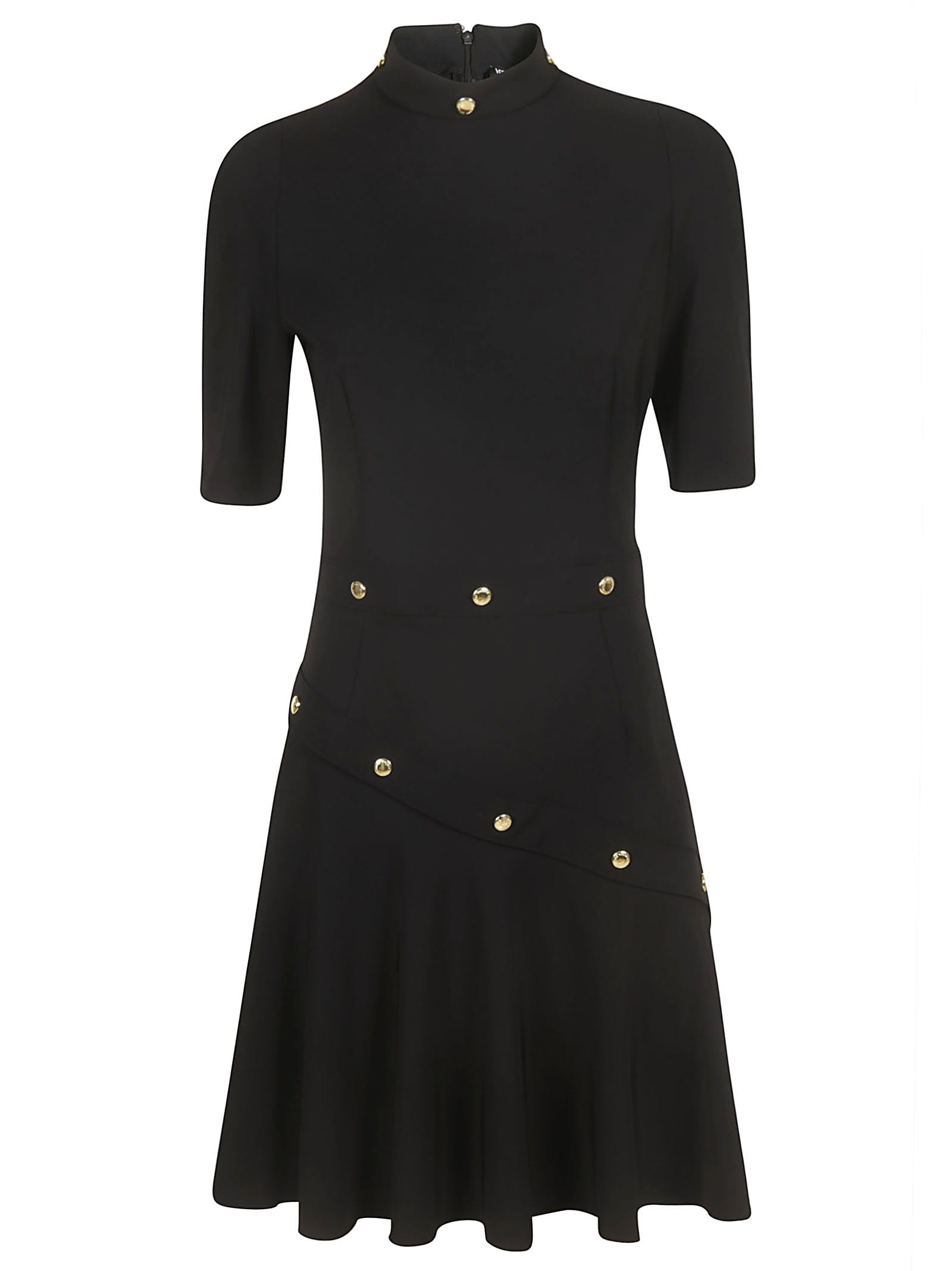 Versace Jeans Couture Mid-length Studded Detail Dress