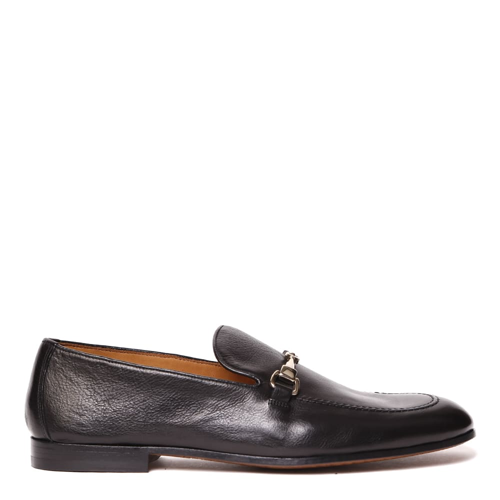 Doucals Black Leather Loafer