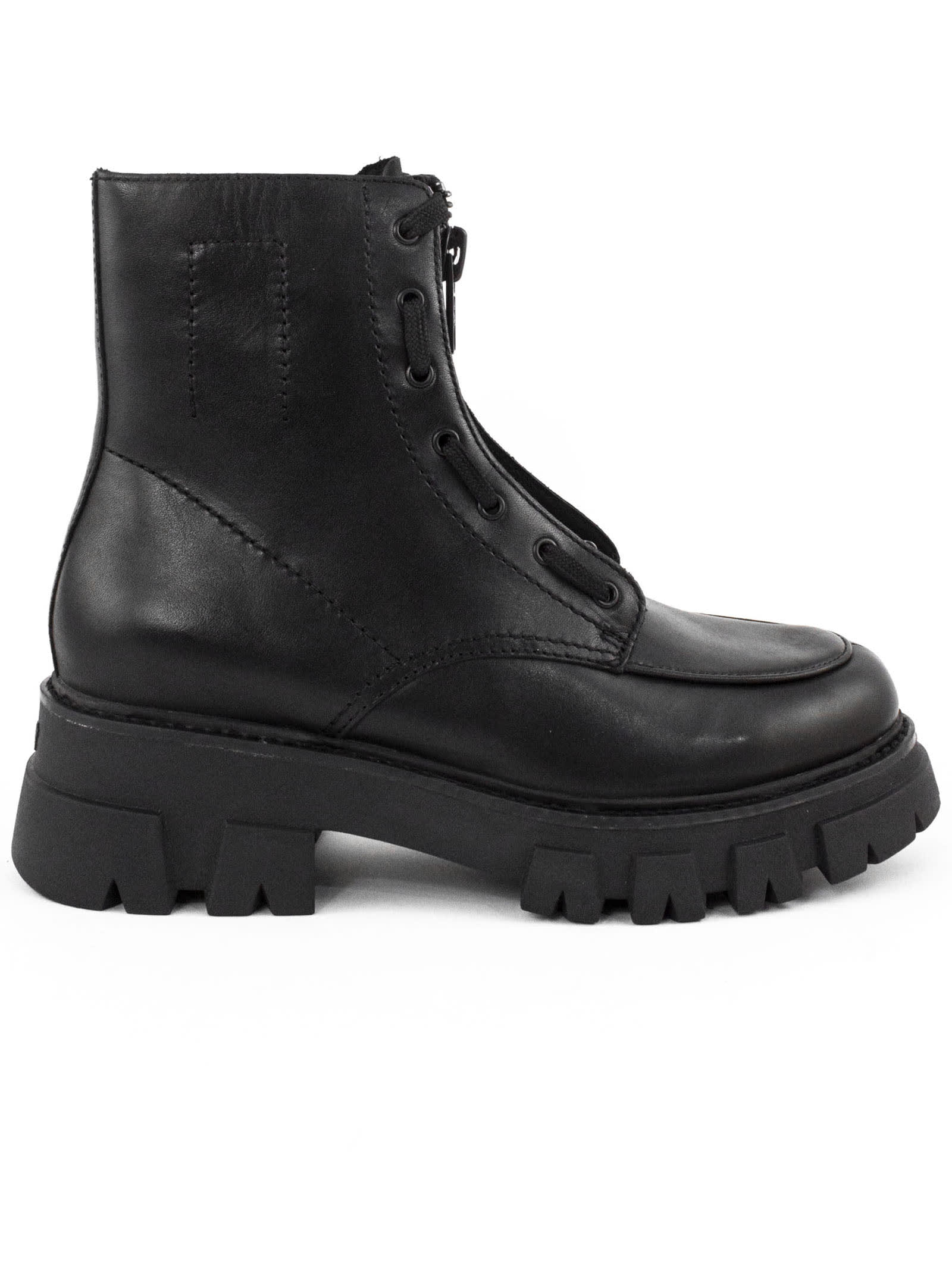 Ash Black Lynch Ankle Boots