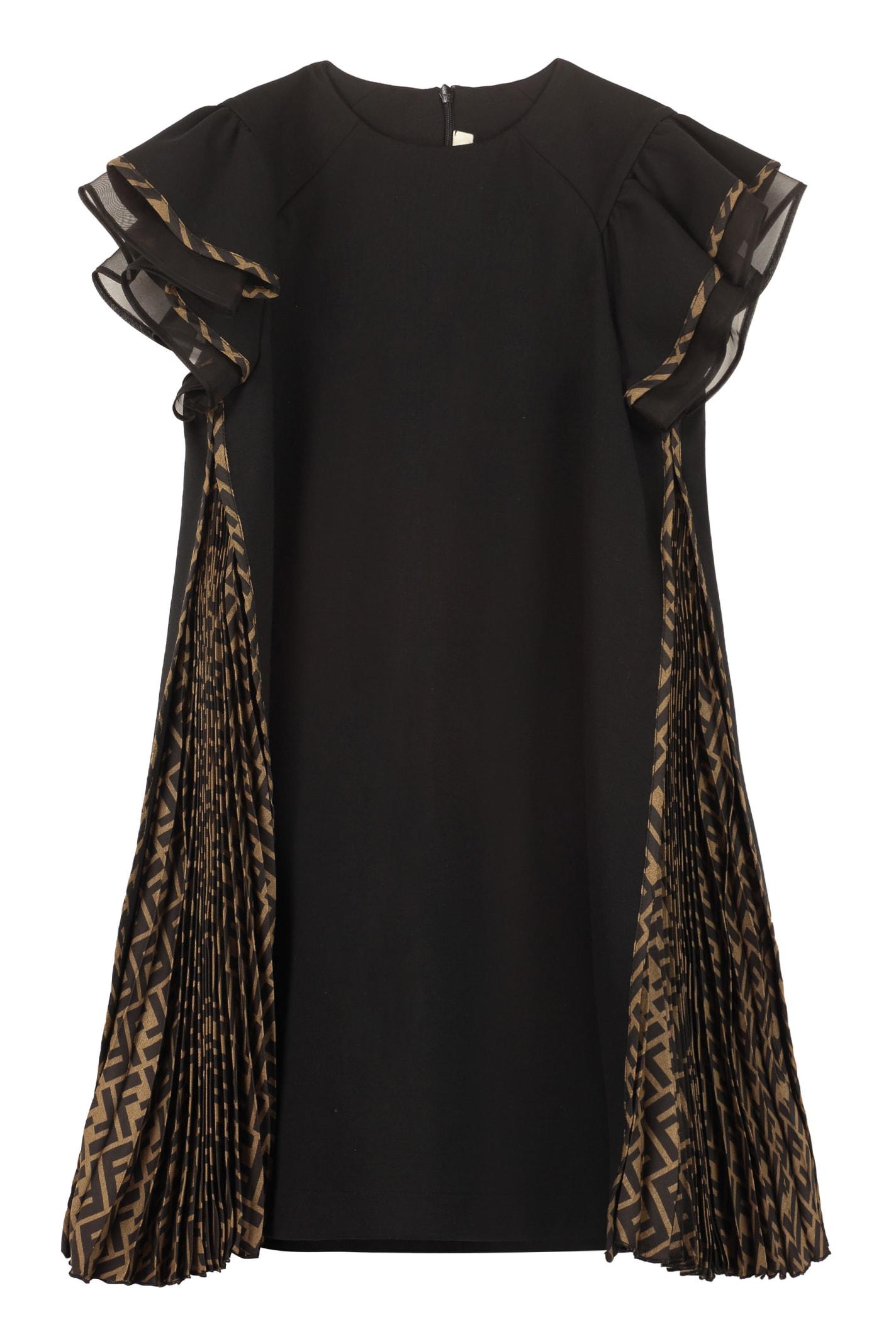Buy Fendi Frill Dress online, shop Fendi with free shipping