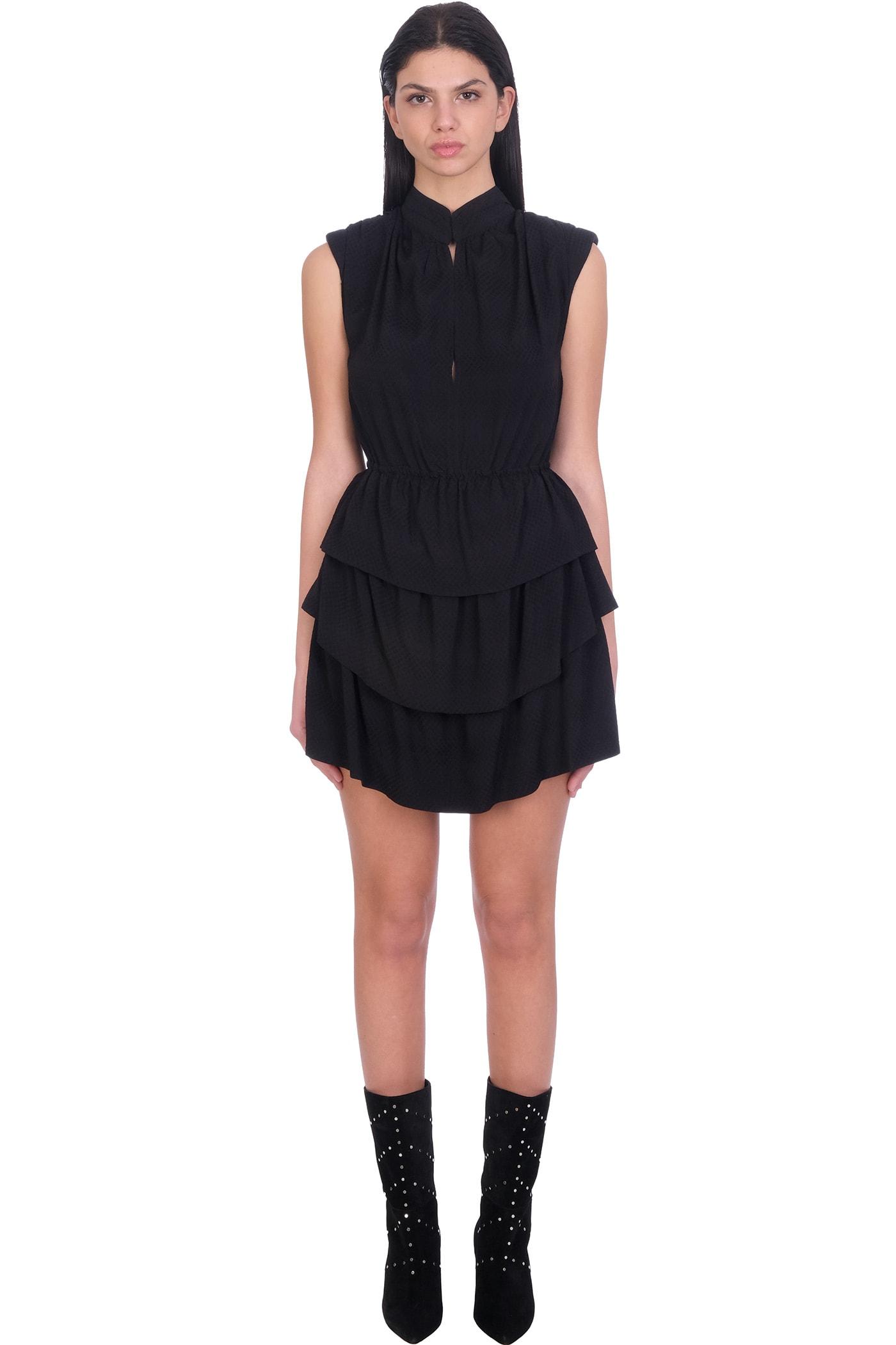 Buy IRO Calcie Dress In Black Rayon online, shop IRO with free shipping