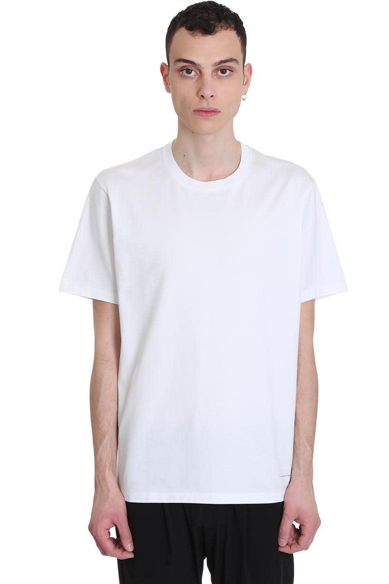 Attachment T-shirt In White Cotton