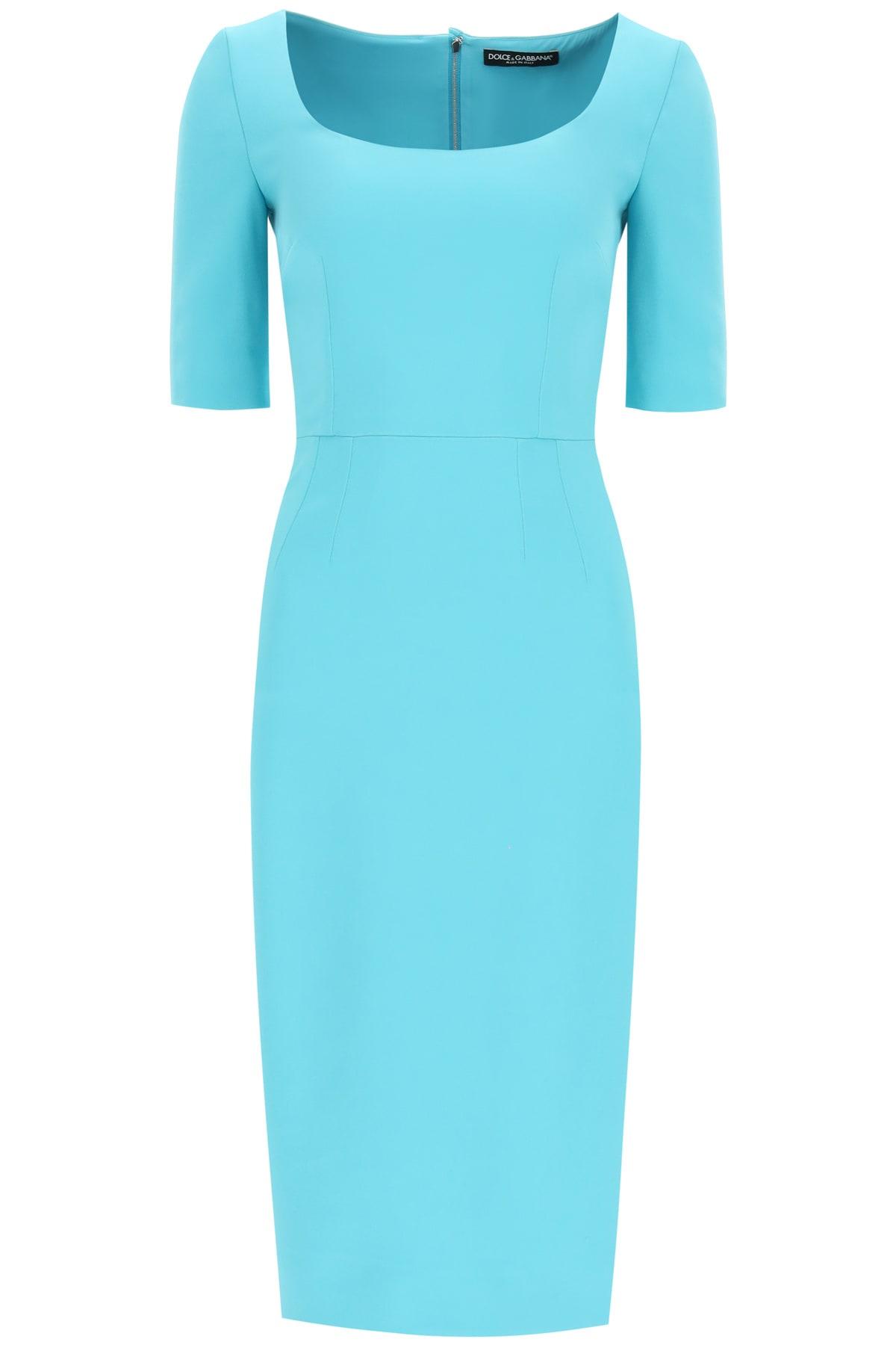 Buy Dolce & Gabbana Cady Midi Dress online, shop Dolce & Gabbana with free shipping