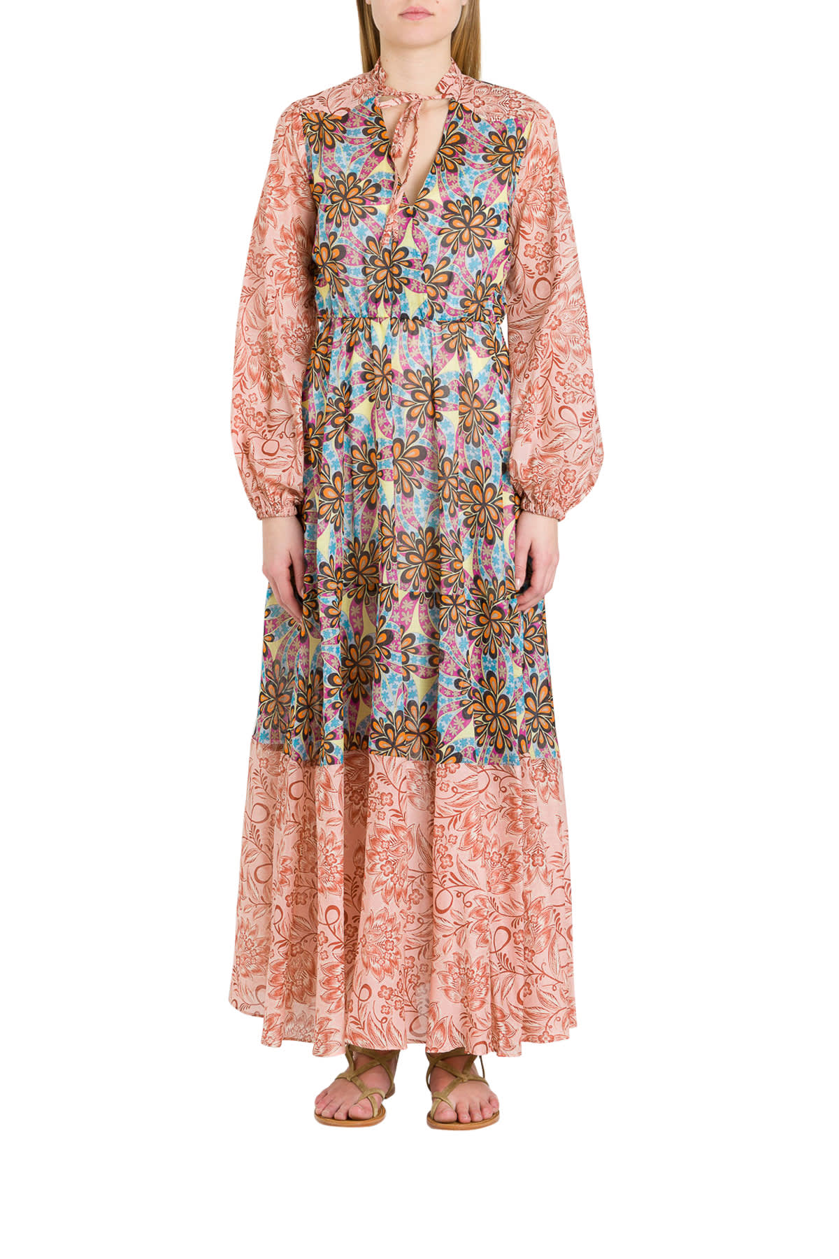 Buy Pinko Maxi Dress With Floral Pattern online, shop Pinko with free shipping