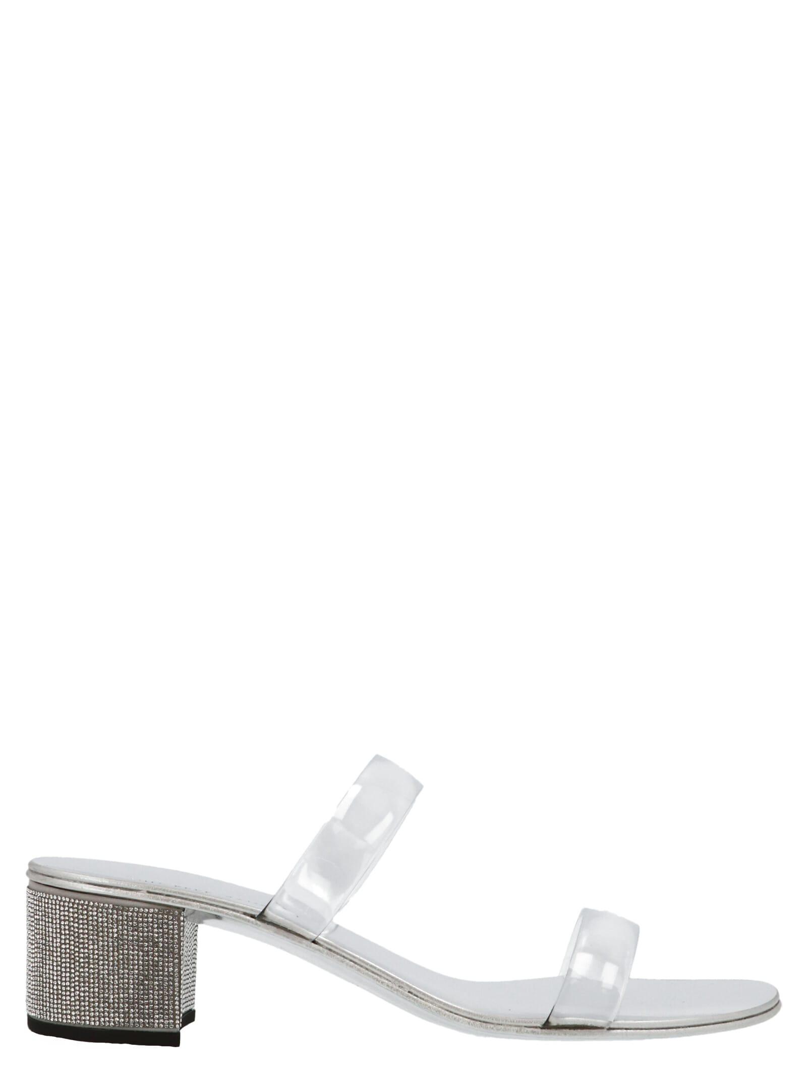 Giuseppe Zanotti Aurelia 40 Shoes In Silver