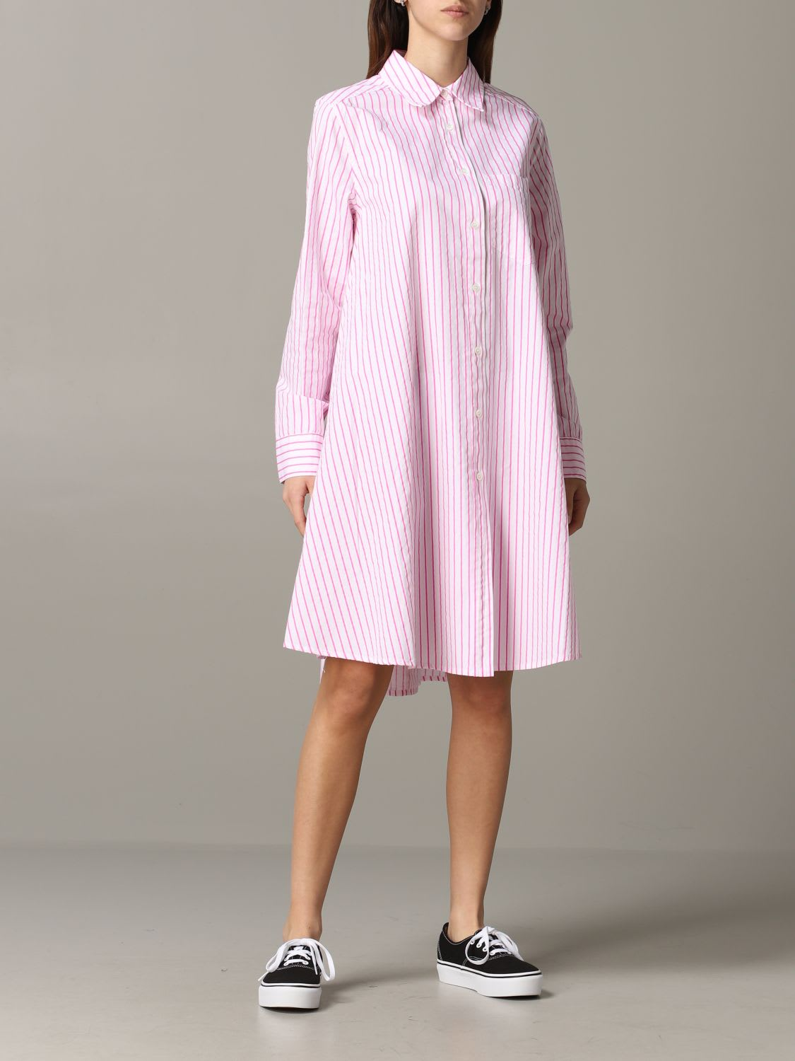 Buy Department 5 Dress Department 5 Dress In Striped Poplin online, shop Department 5 with free shipping