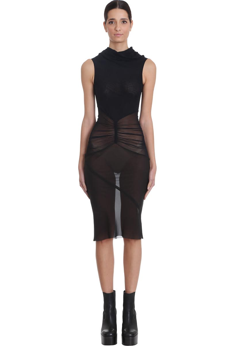 Buy Rick Owens Dustlator Dress In Black Tech/synthetic online, shop Rick Owens with free shipping