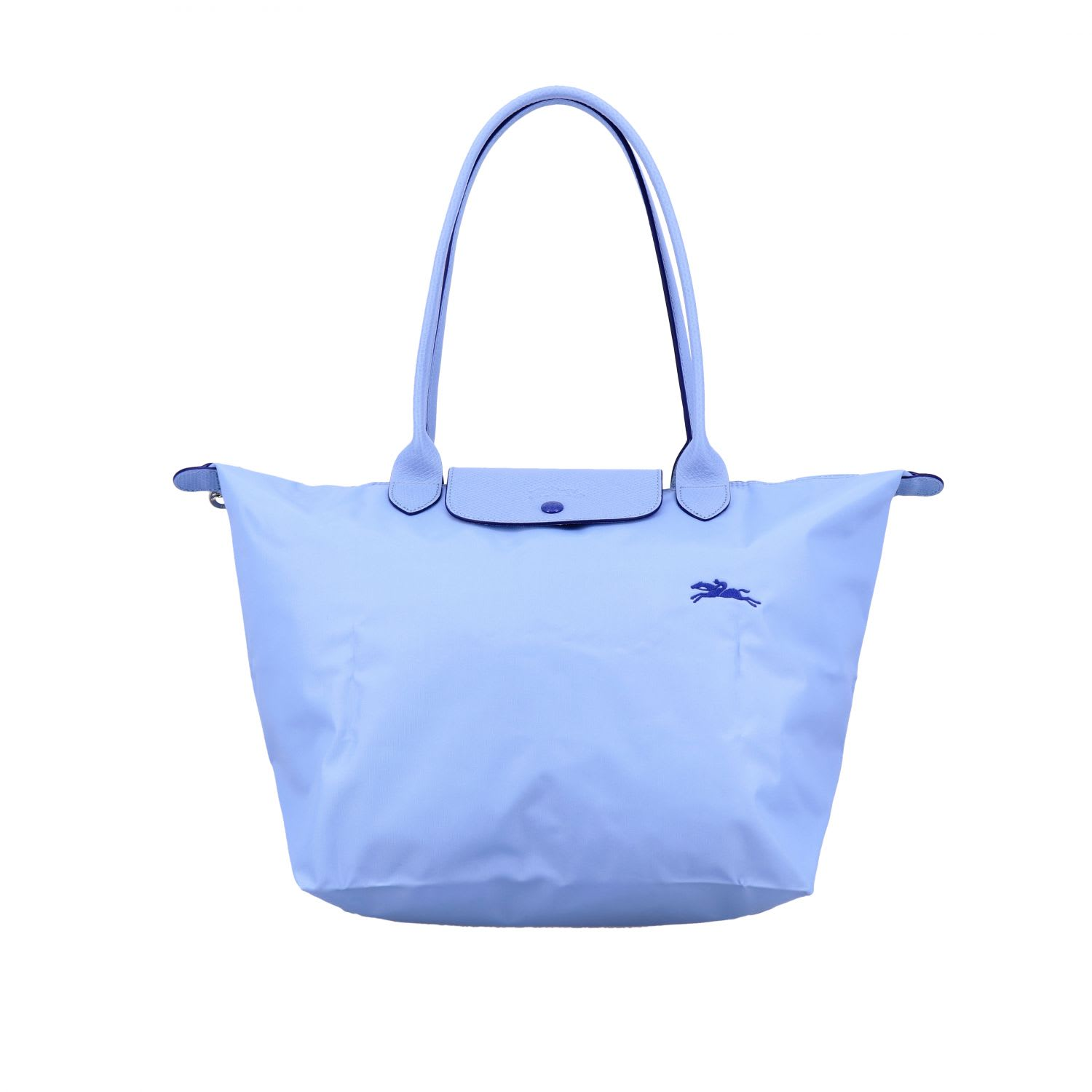 Longchamp In Nylon In Gnawed Blue