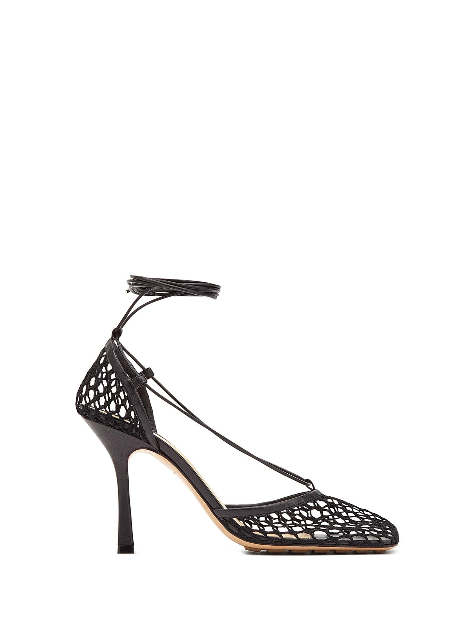 Buy Bottega Veneta Mesh Pumps online, shop Bottega Veneta shoes with free shipping