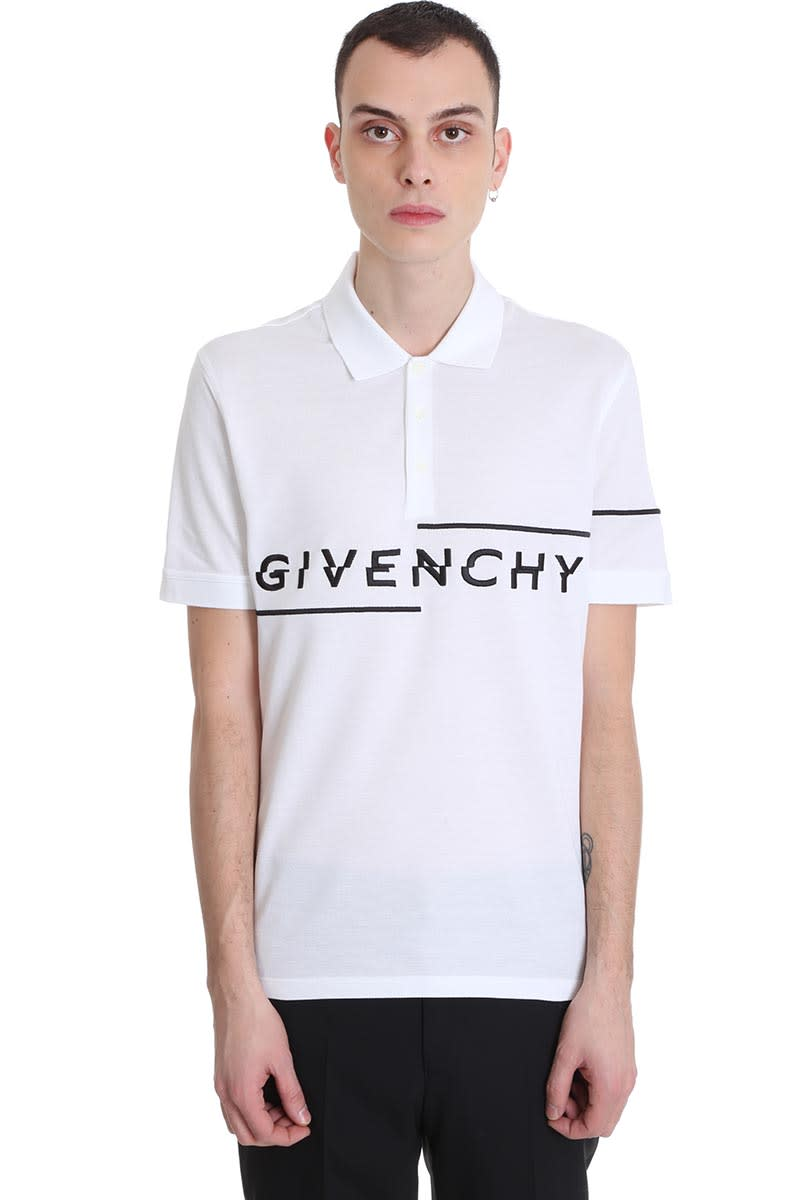 Givenchy Polo In White Cotton