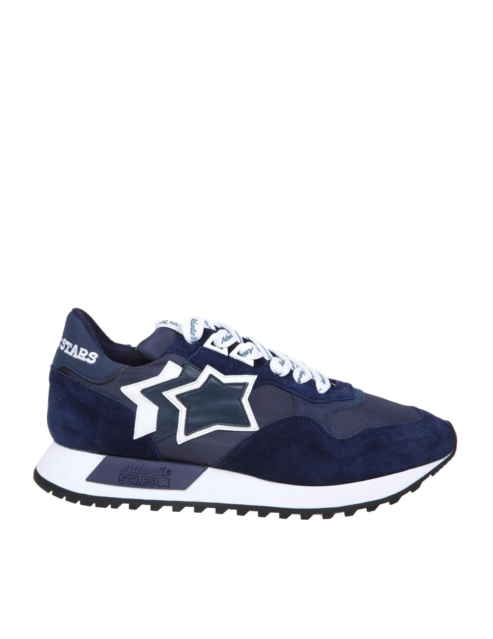 Atlantic Stars DRACO SNEAKERS IN NYLON AND SUEDE COLOR BLUE