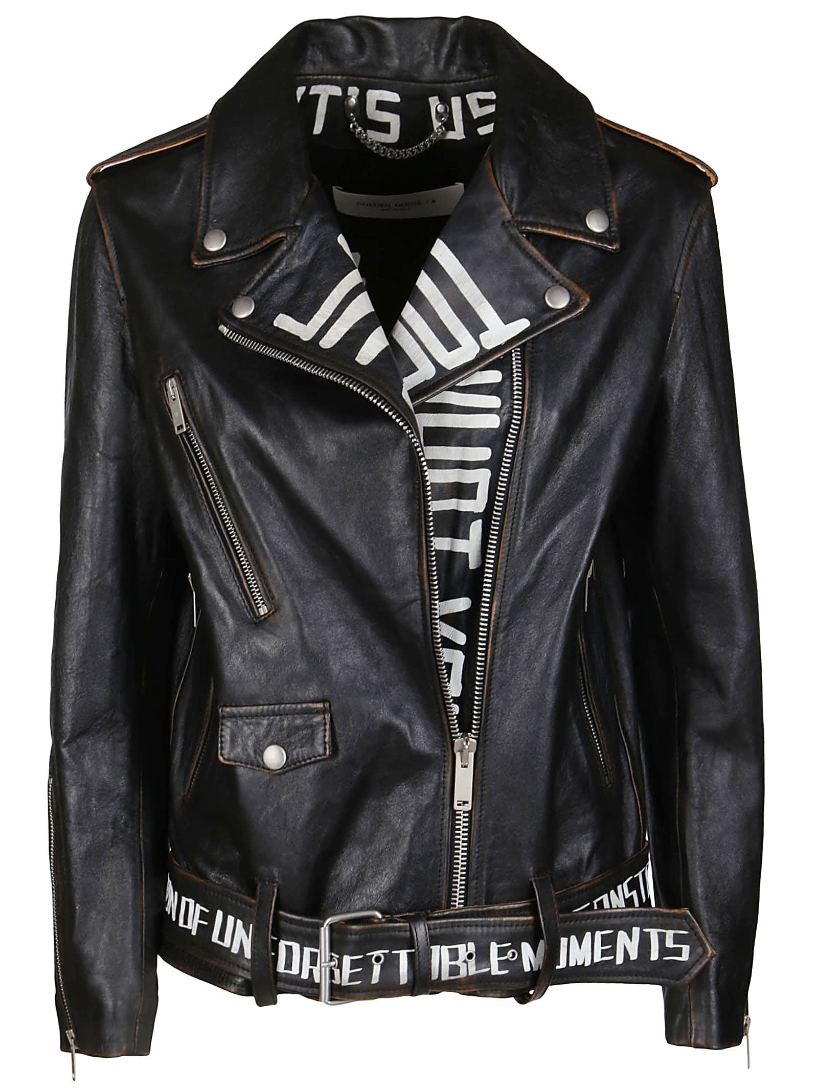 Golden Goose BLACK LEATHER JACKET