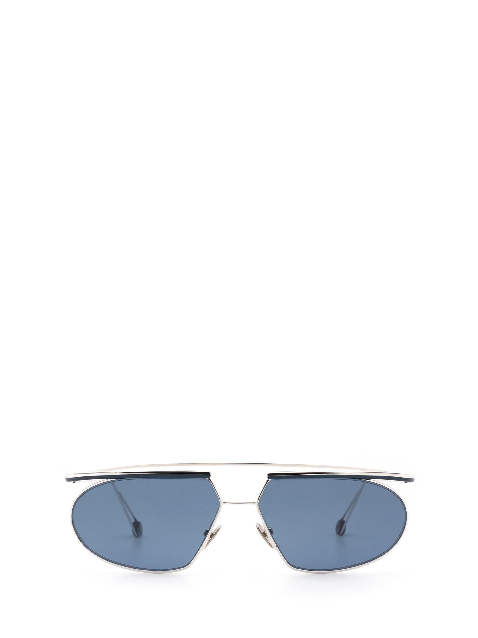 AHLEM Ahlem Place Tokyo White Gold/blue Sunglasses