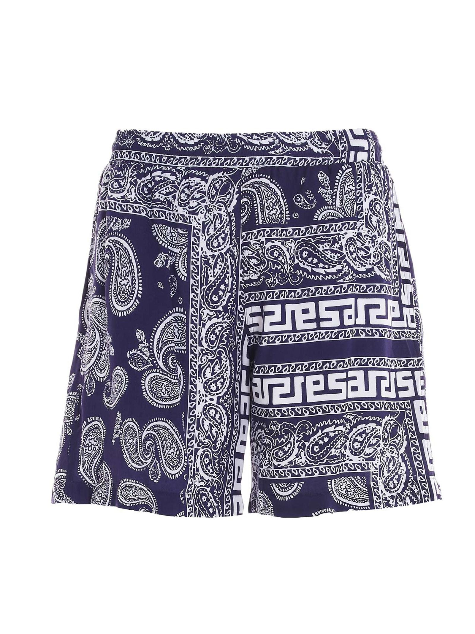 Aries Bandana Print Swimshorts In Blue