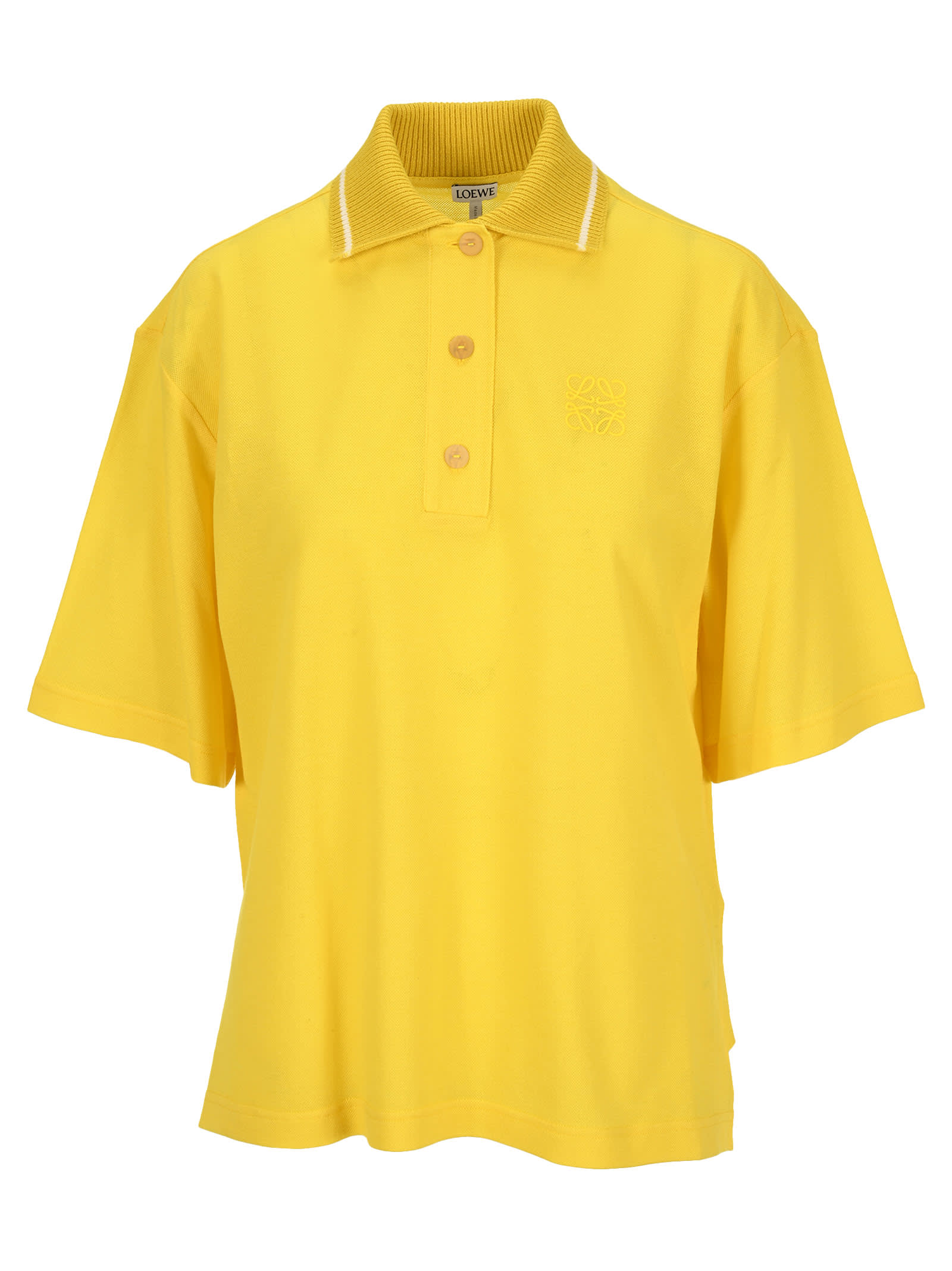 Loewe Polos OVERSIZE ANAGRAM POLO IN CASHMERE AND COTTON
