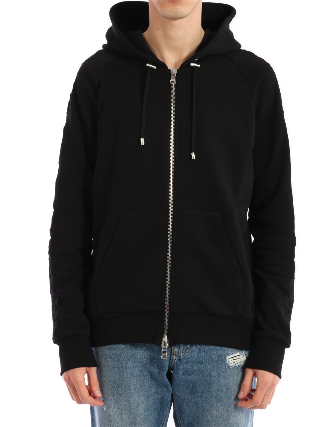 Balmain Full-zip Sweatshirt Black