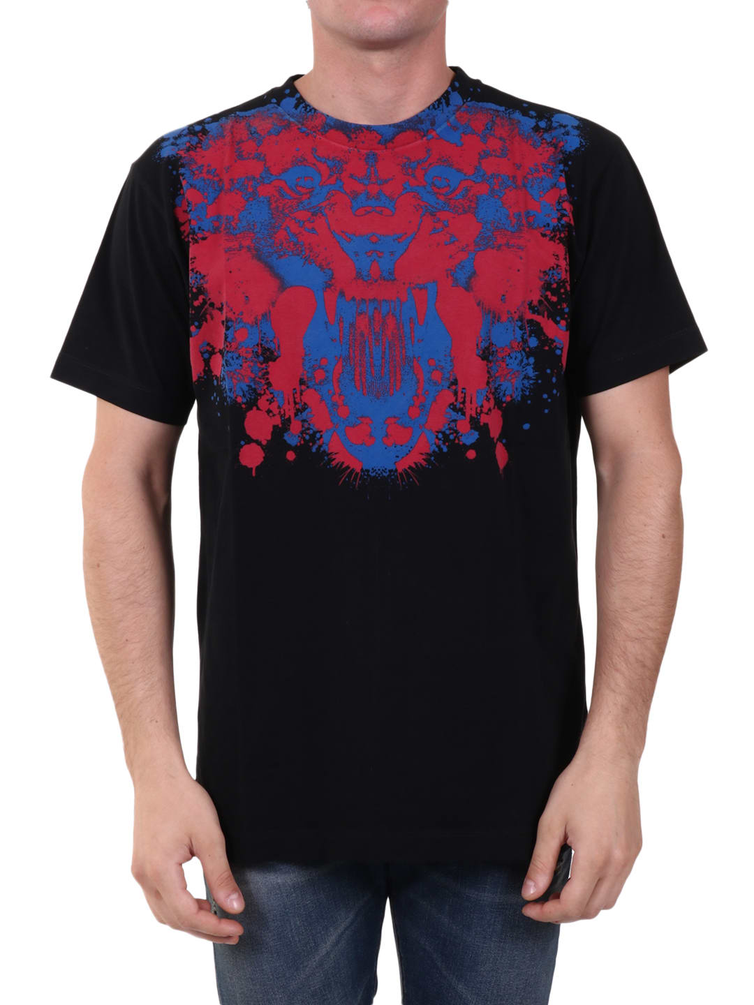 Marcelo Burlon County Of Milan Cottons PRINTED T-SHIRT BLACK