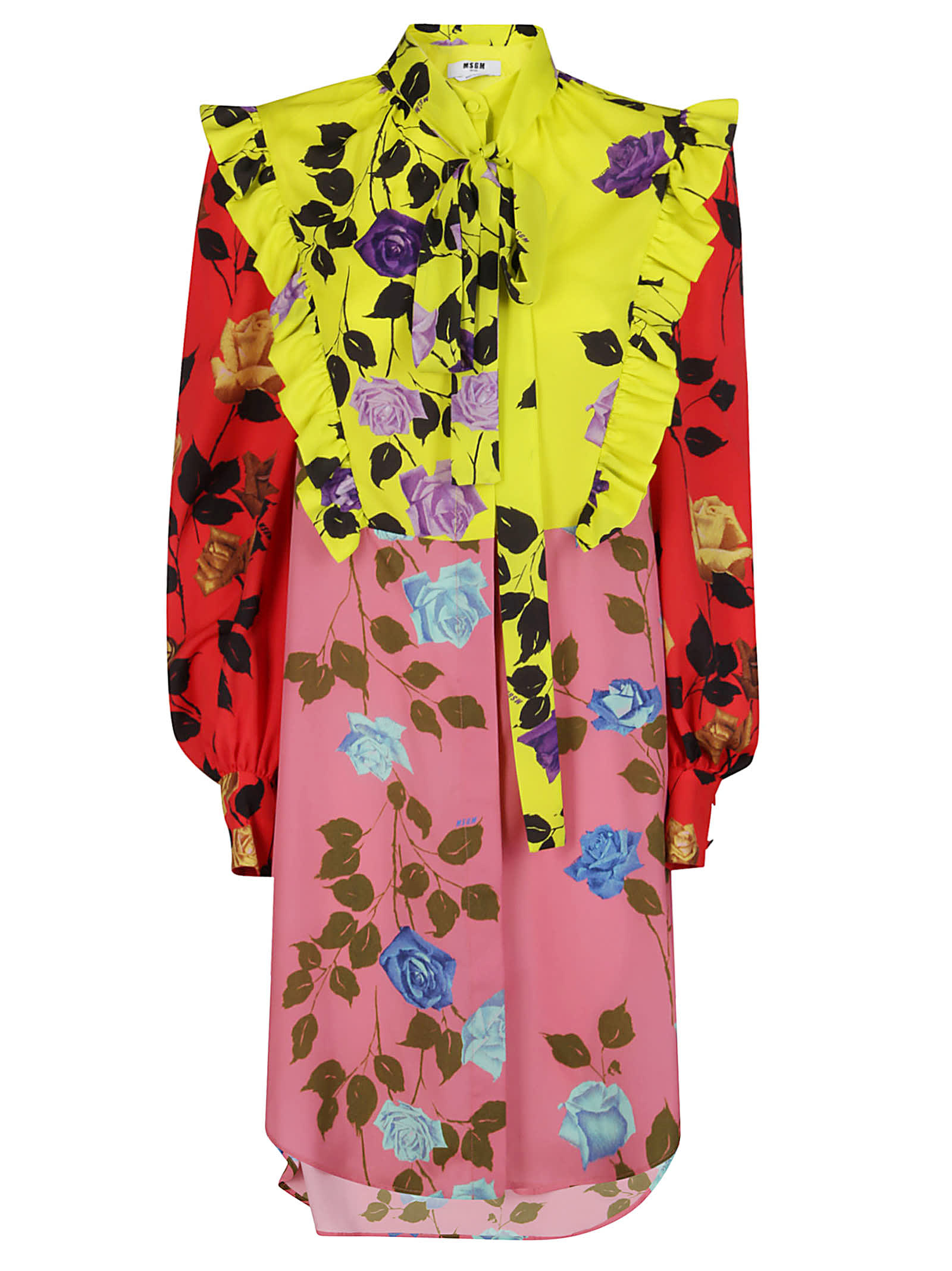 Buy MSGM Floral Dress online, shop MSGM with free shipping