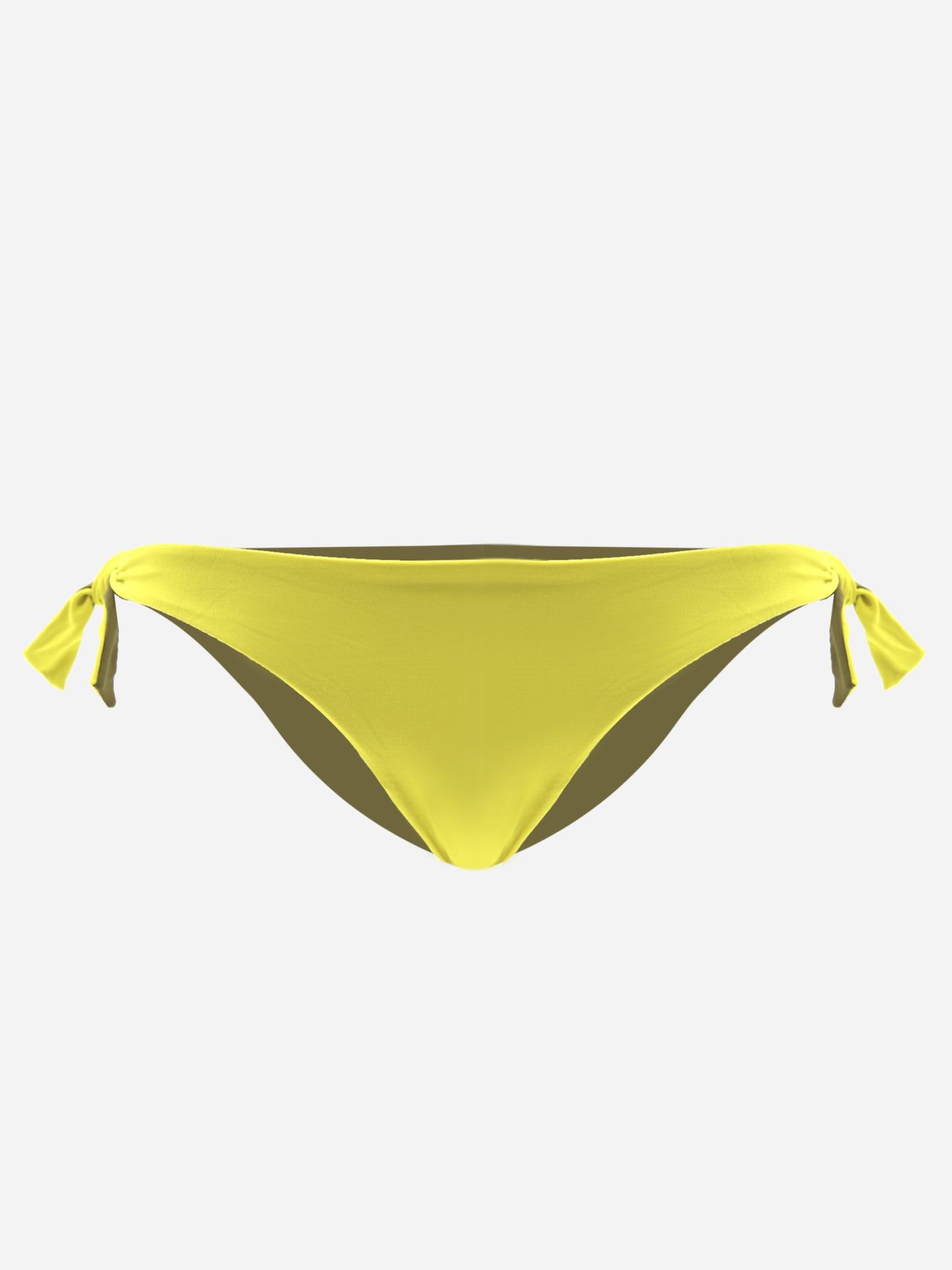Two-tone Bikini Bottoms With Side Knot