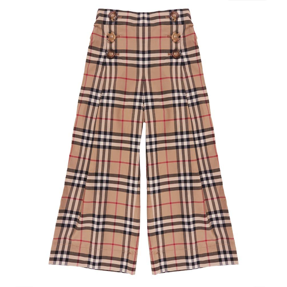 Burberry Kids' Tilda Trousers In Archive Beige Ip Chk