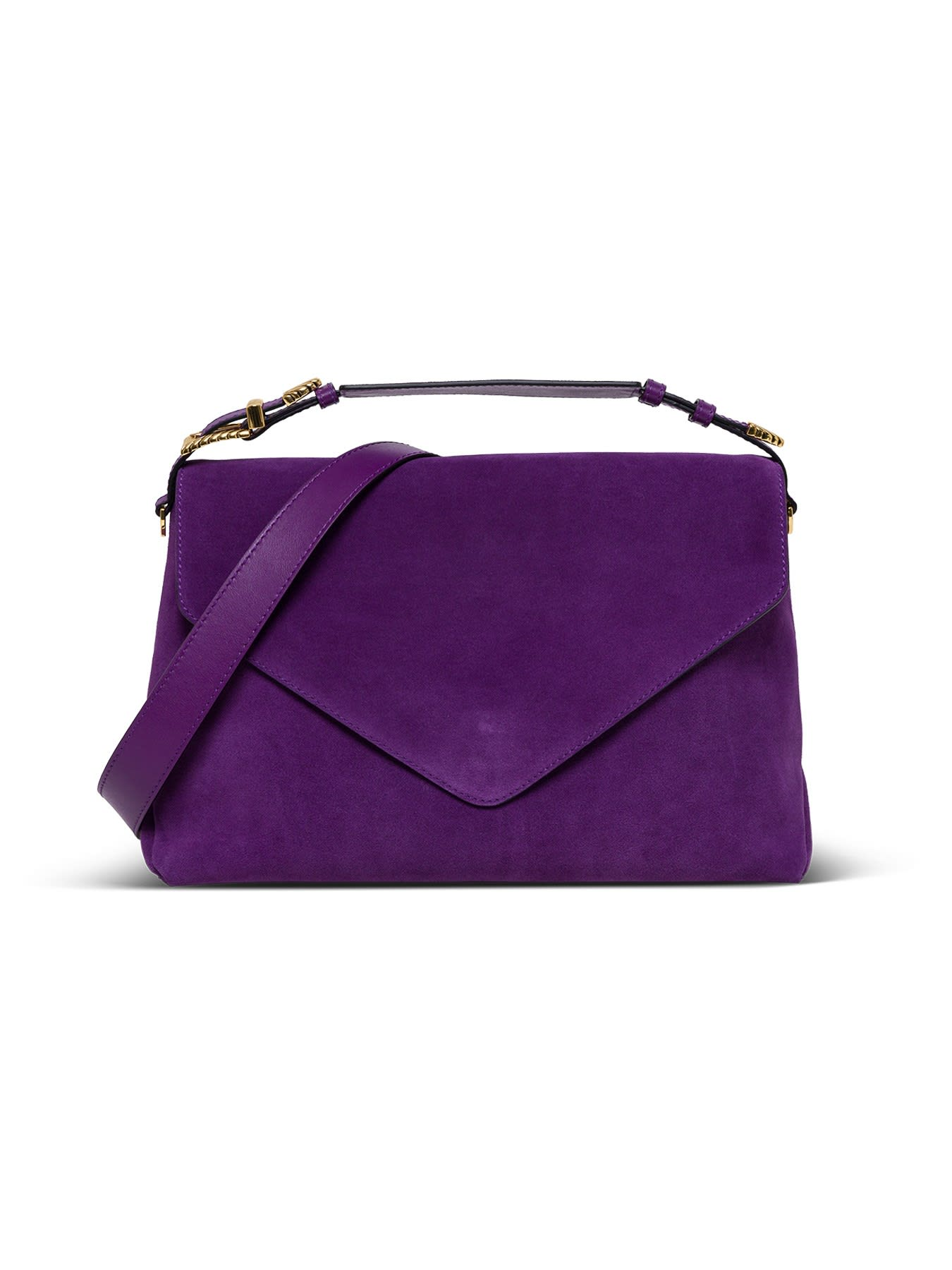 Alberta Ferretti SUEDE SHOULDER BAG