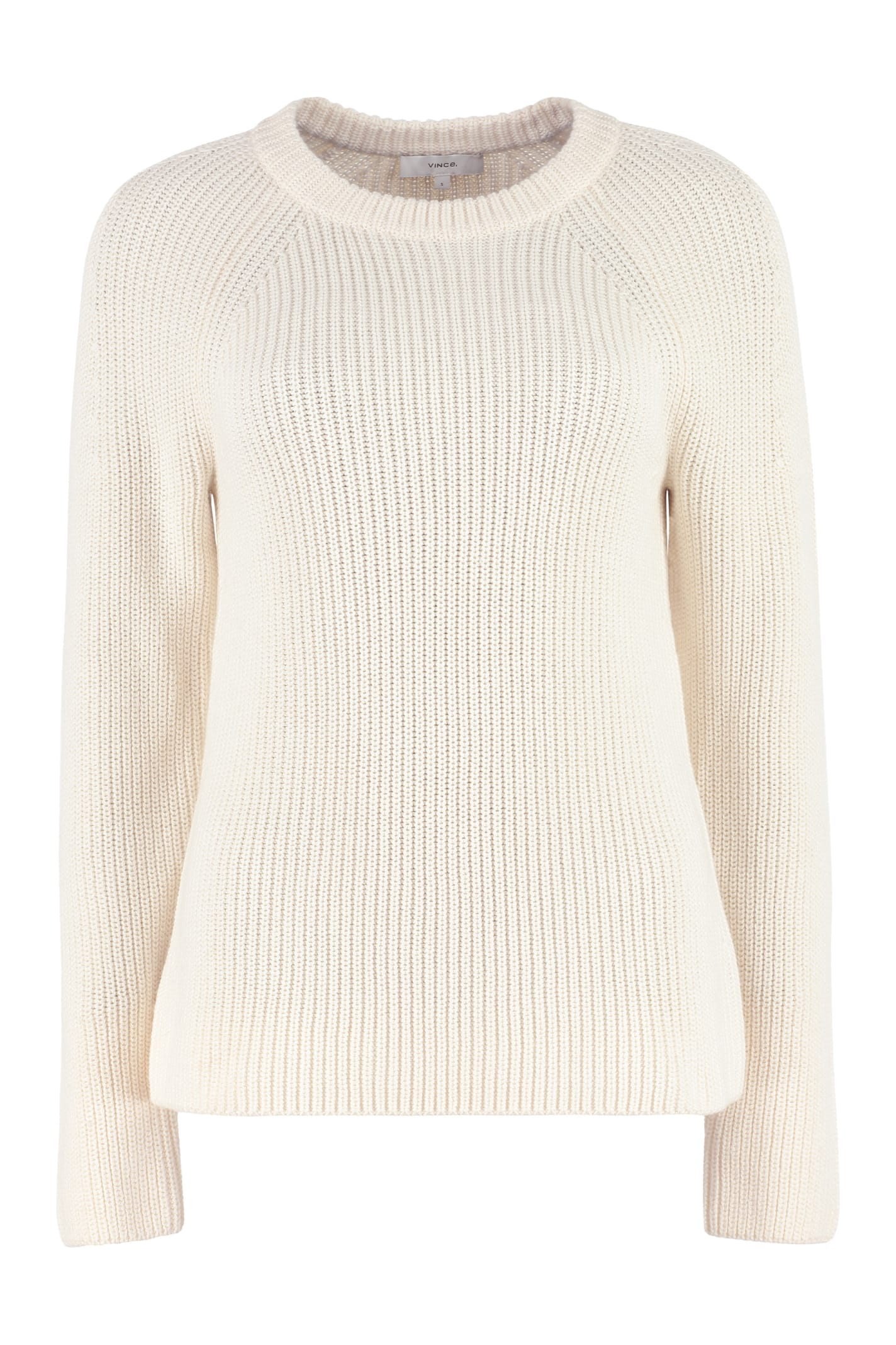 Vince Ribbed Crew-neck Sweater