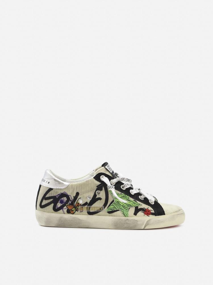 Golden Goose Superstar Sneakers In Velvet With Contrasting Inserts