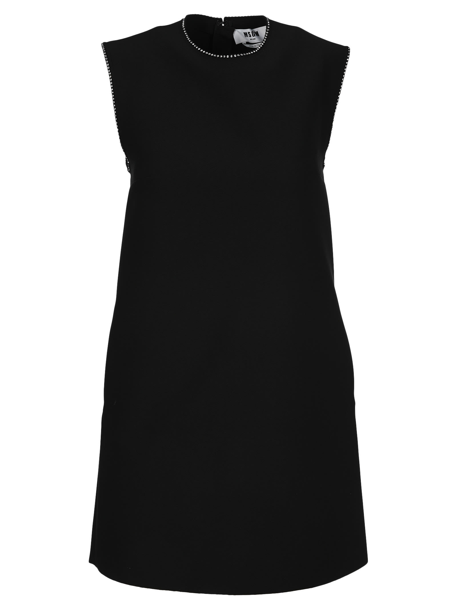 Buy Msgm Crystal-embellished Shift Dress online, shop MSGM with free shipping
