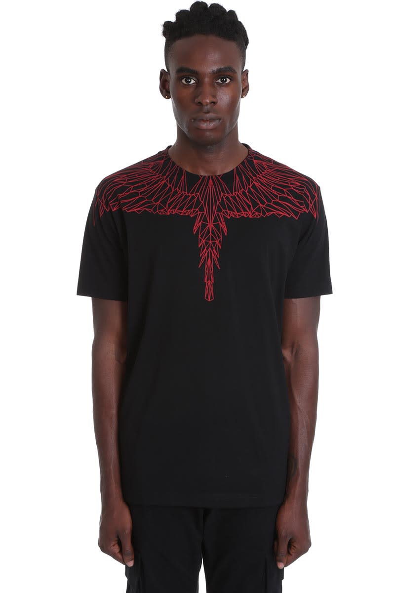 Marcelo Burlon County Of Milan T-shirts T-SHIRT IN BLACK COTTON
