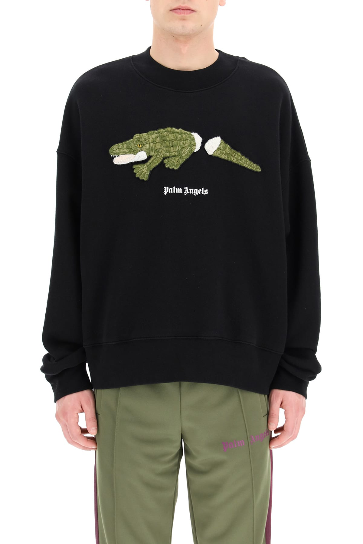 Palm Angels CROCO PATCH SWEATSHIRT