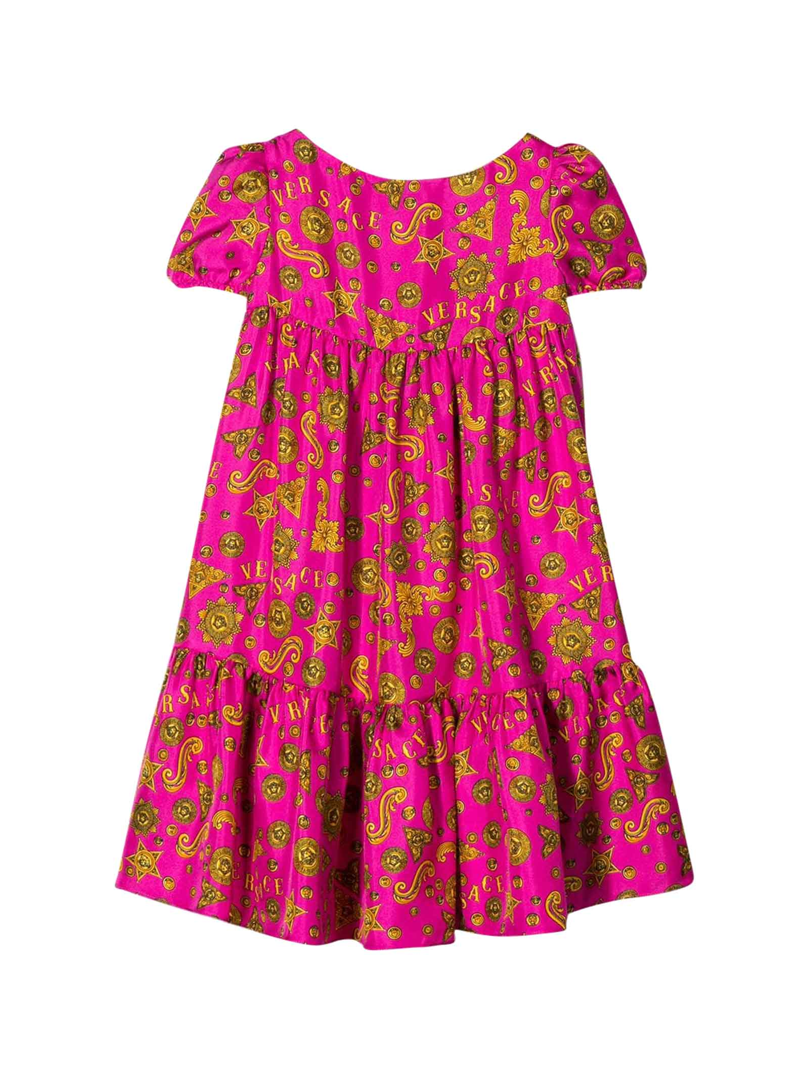 Buy Young Versace Teen Fuchsia Dress With Press online, shop Young Versace with free shipping
