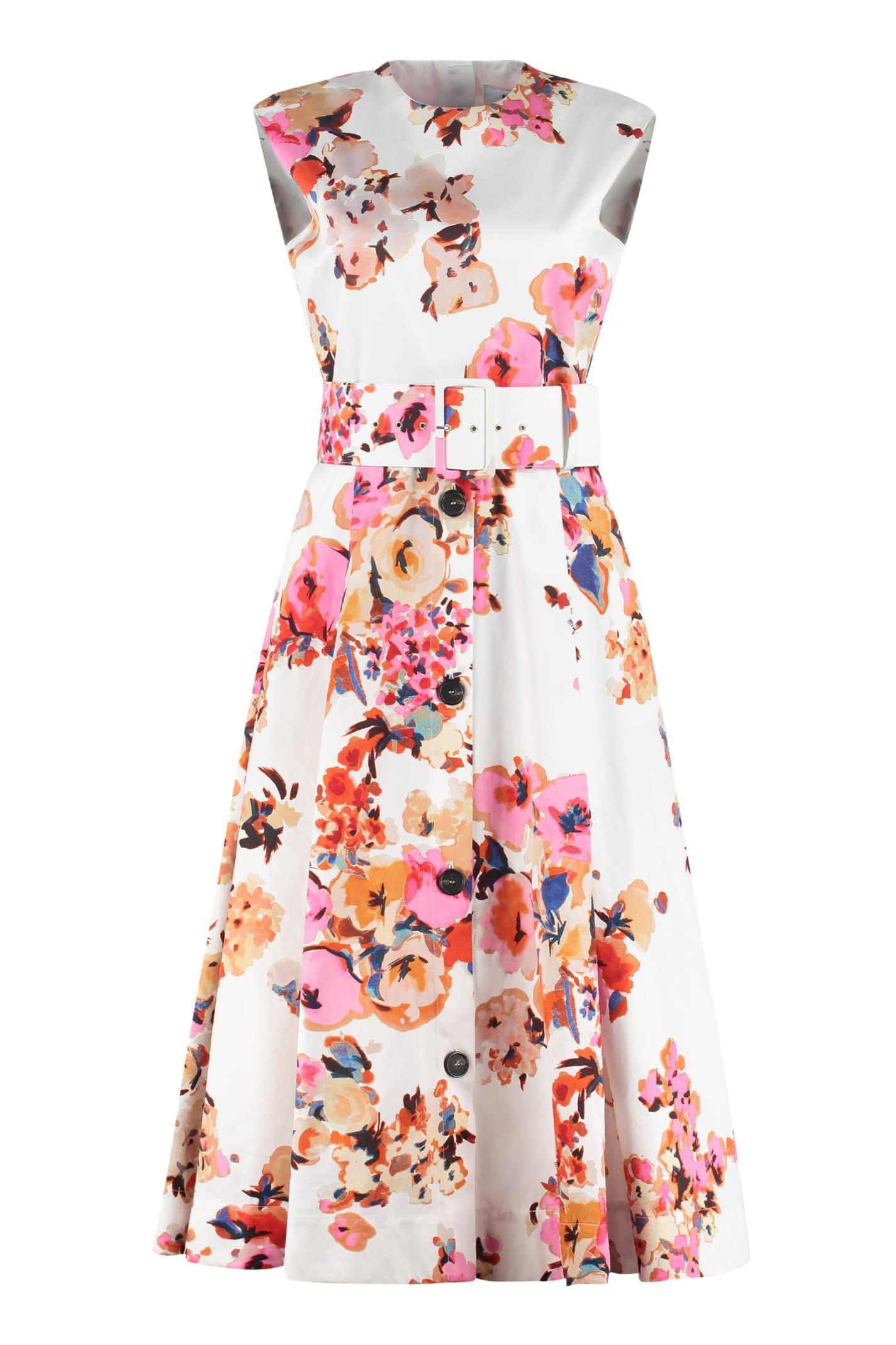 MSGM Belted Midi Dress