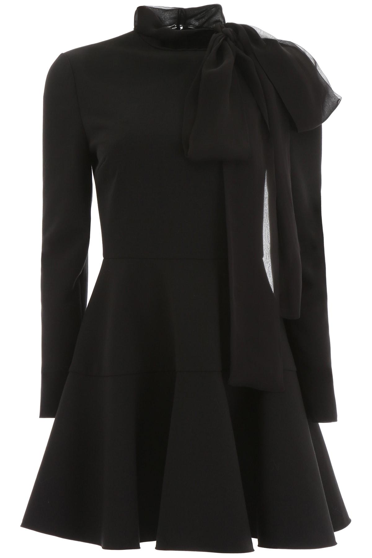 Valentino Mini Dress With Chiffon Bow