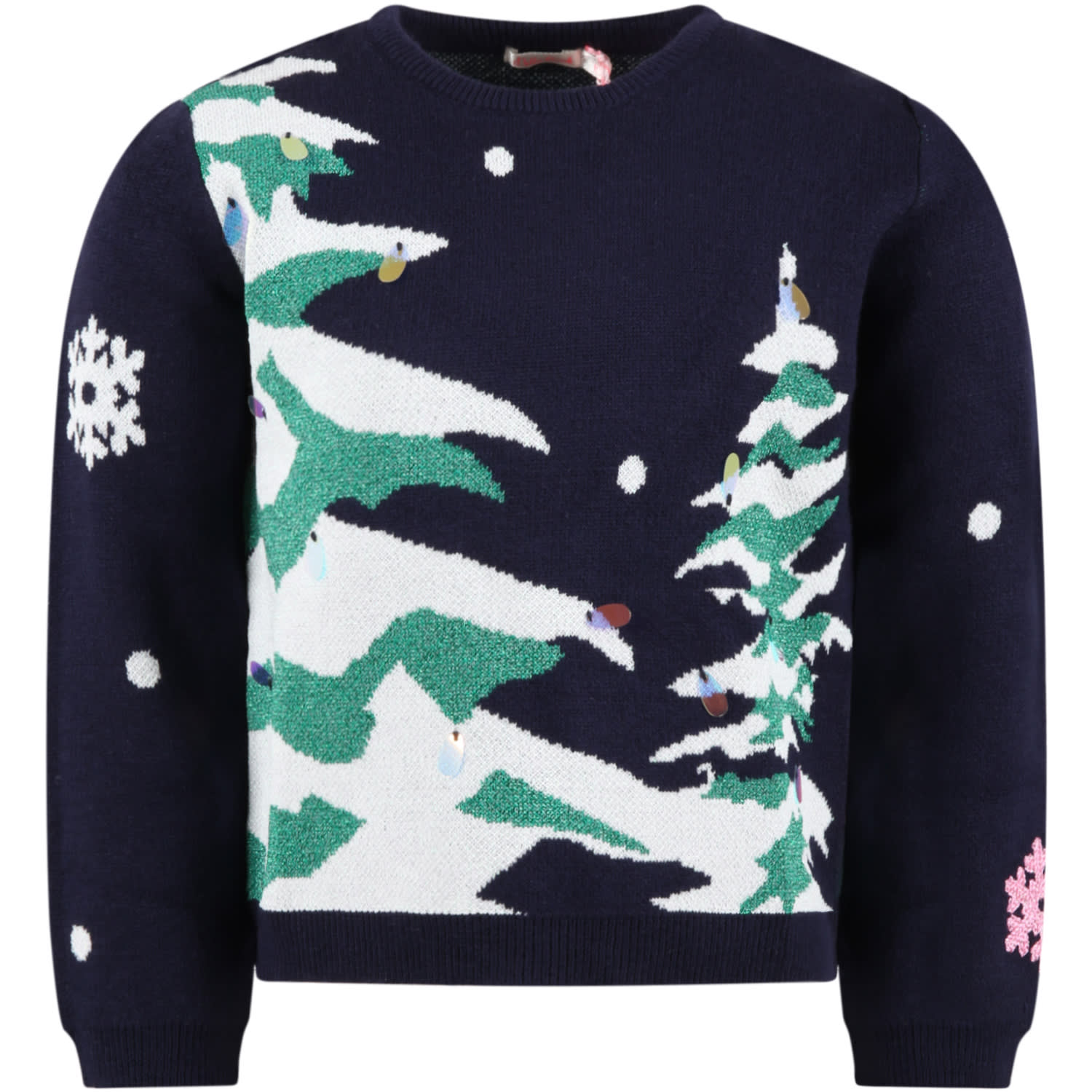 Blue Sweater For Girl With Trees