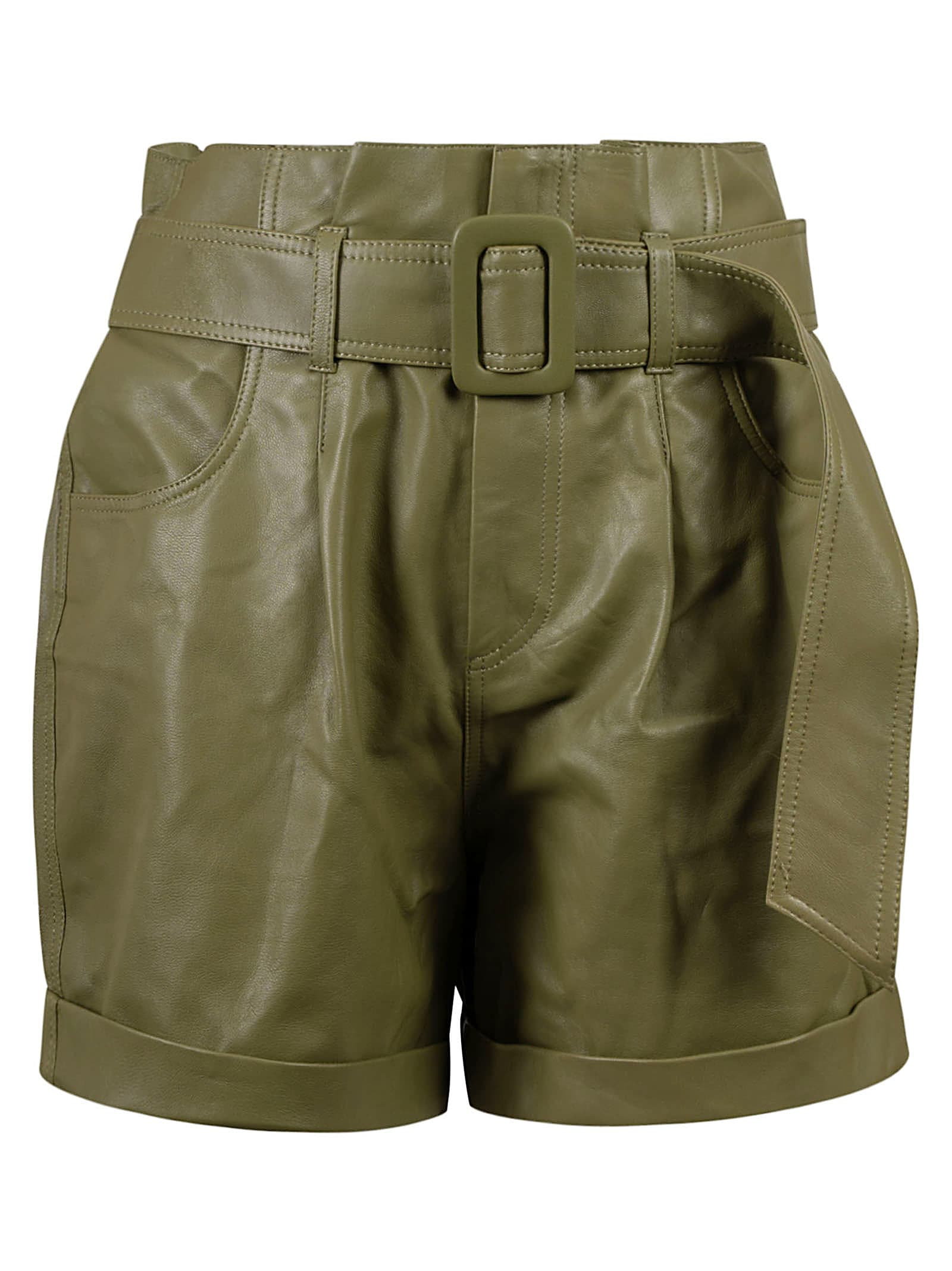 Federica Tosi Leathers BELTED SHORTS