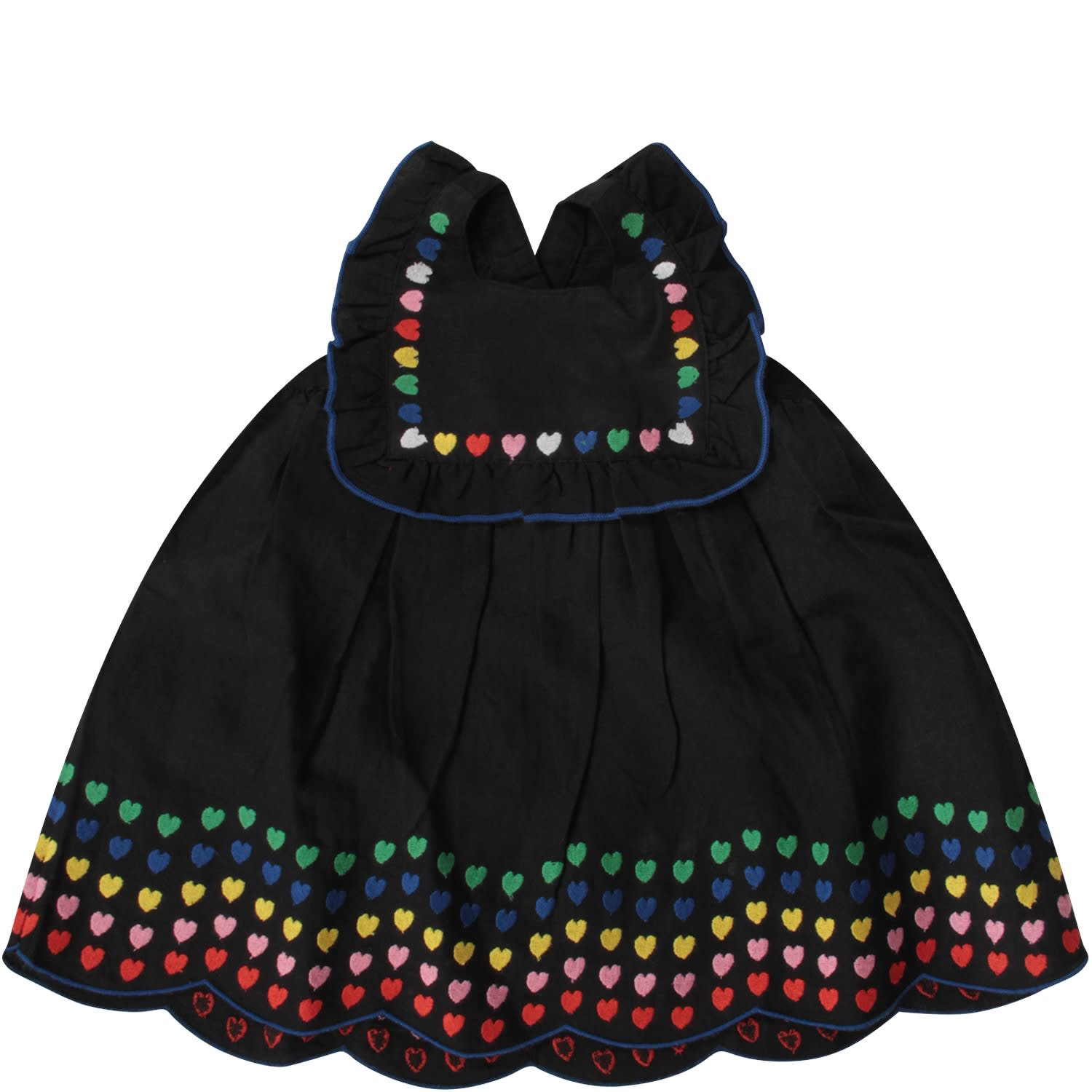 Buy Stella McCartney Kids Black Dress With Colorful Hearts For Baby Girl online, shop Stella McCartney Kids with free shipping